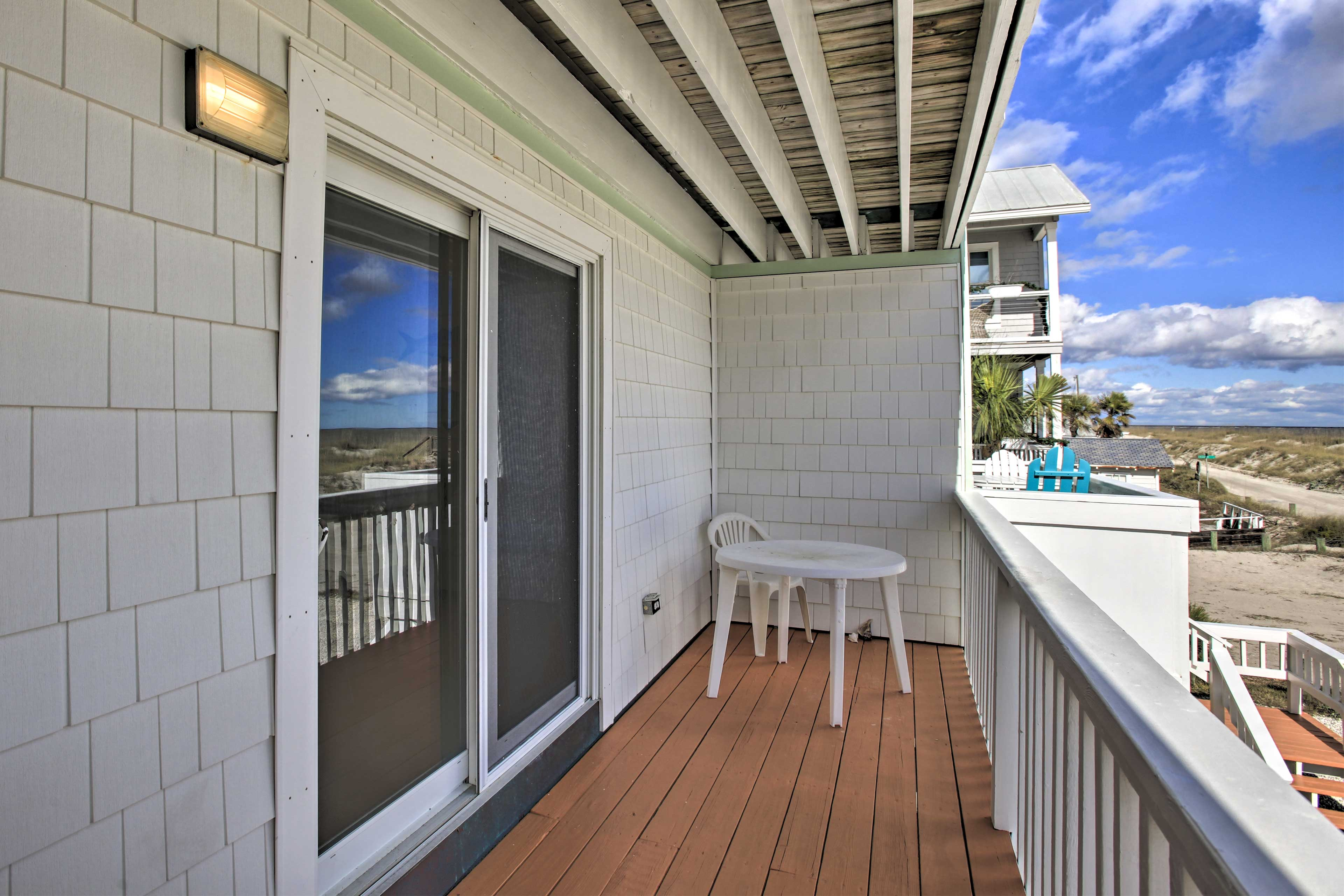 Sip your morning coffee on the deck while admiring the ocean view.