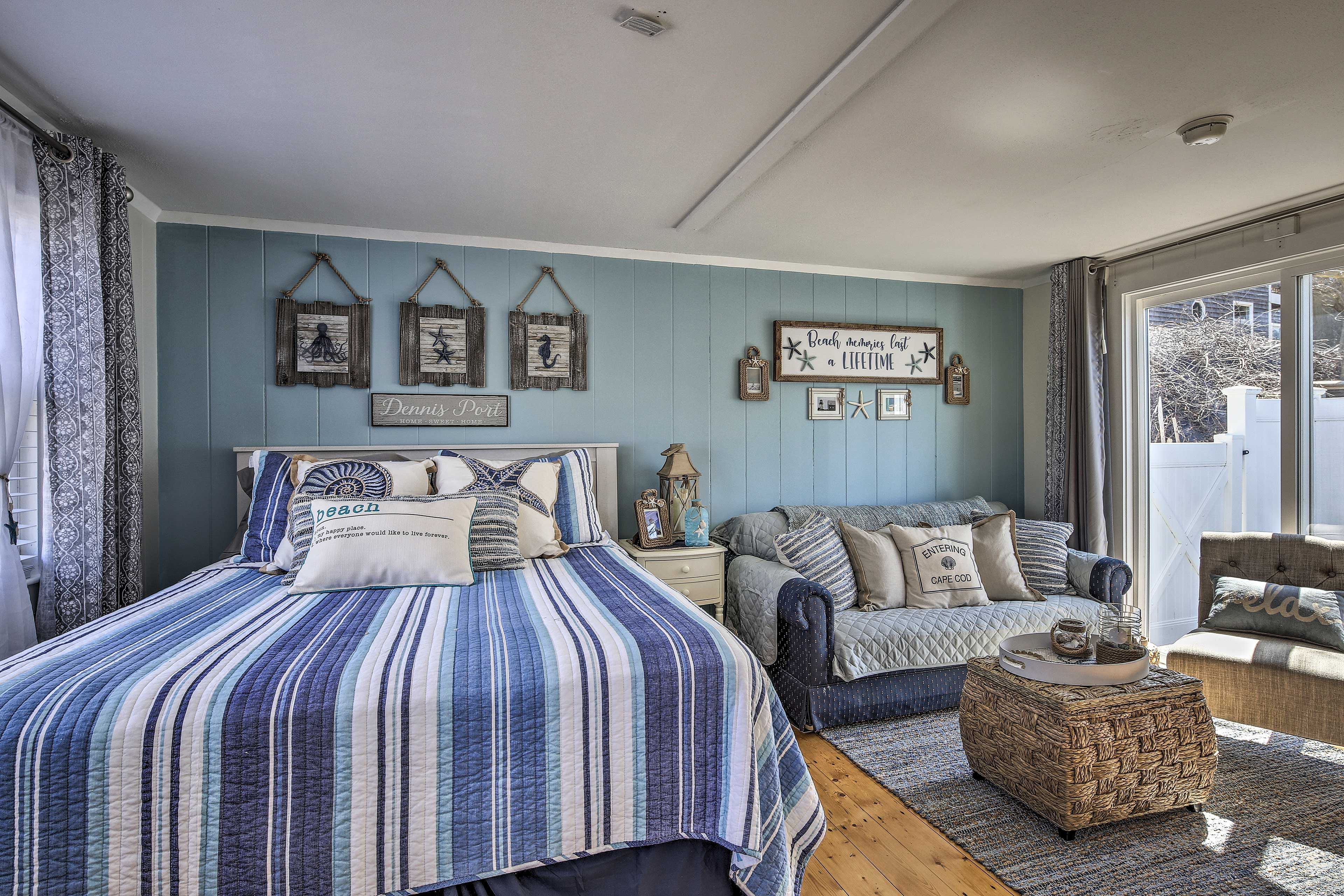 Escape to Dennis Port and stay at this beach-themed 1-bath vacation rental!