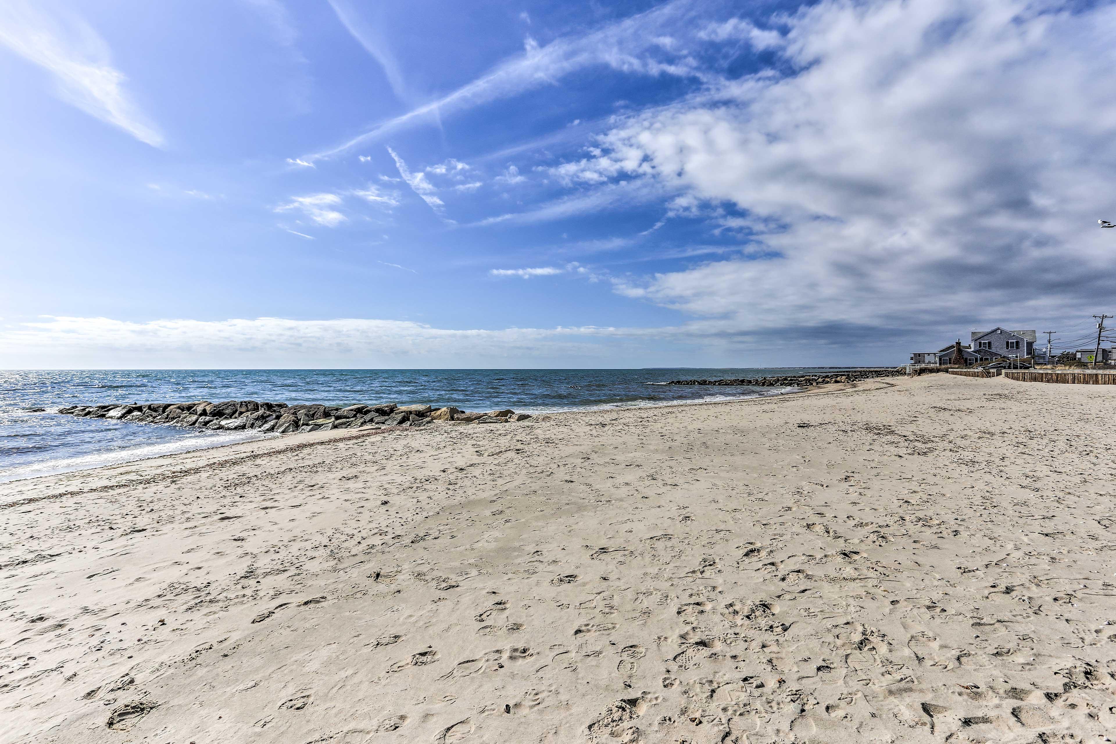 Catch a sun tan on the sand.