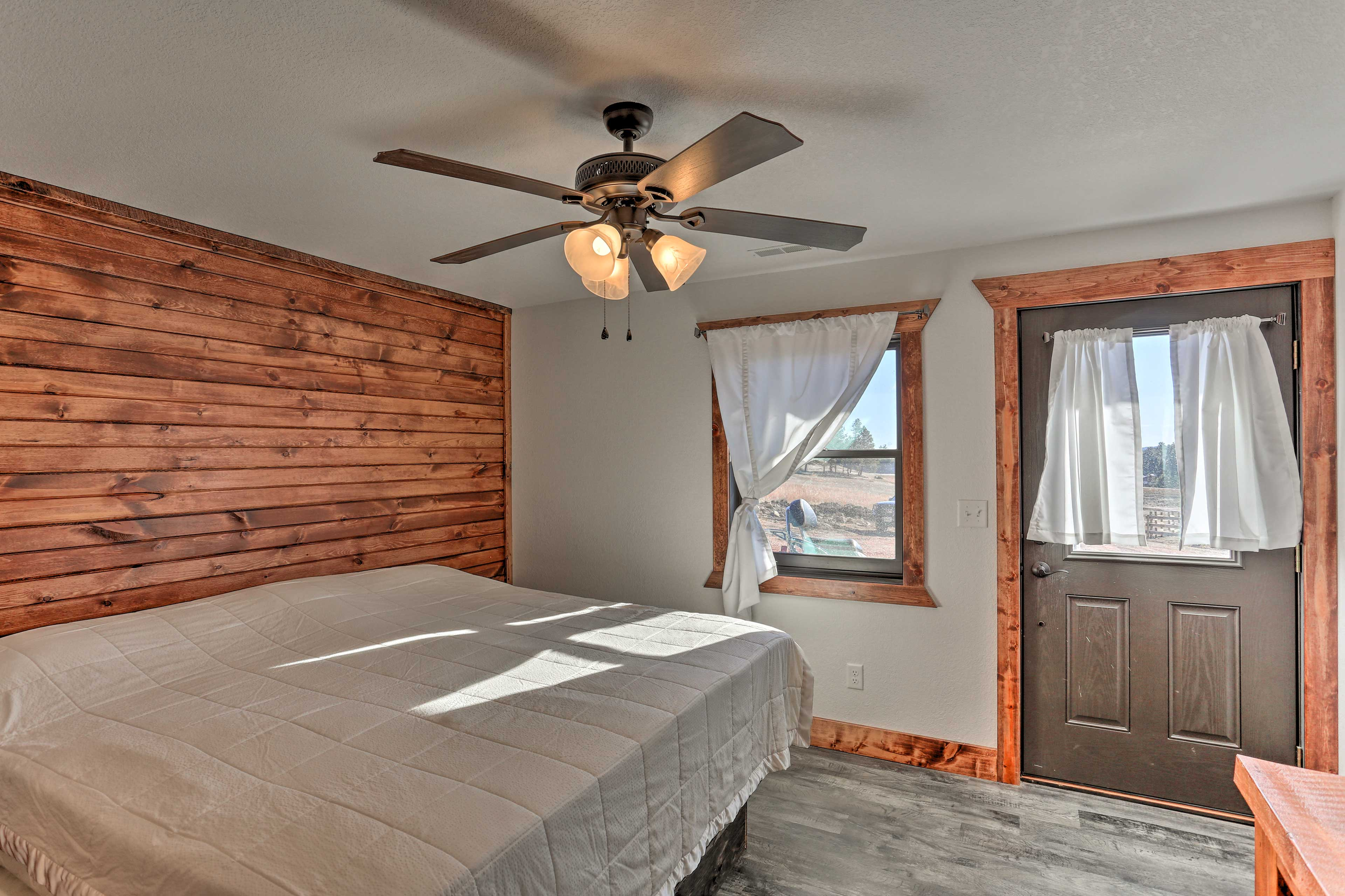 Step out to the deck directly from the bedroom!