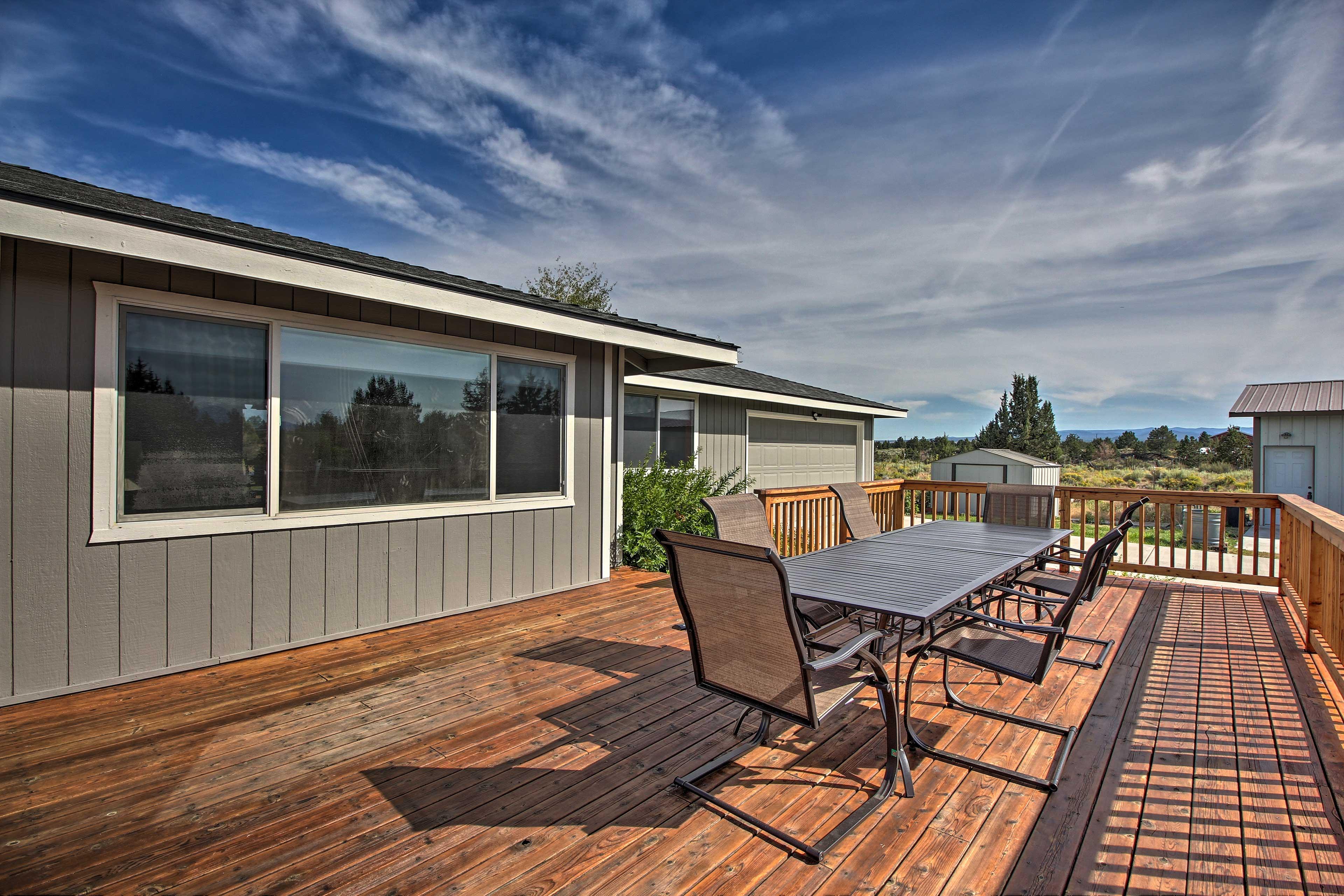 Enjoy stunning views from the BBQ porch.