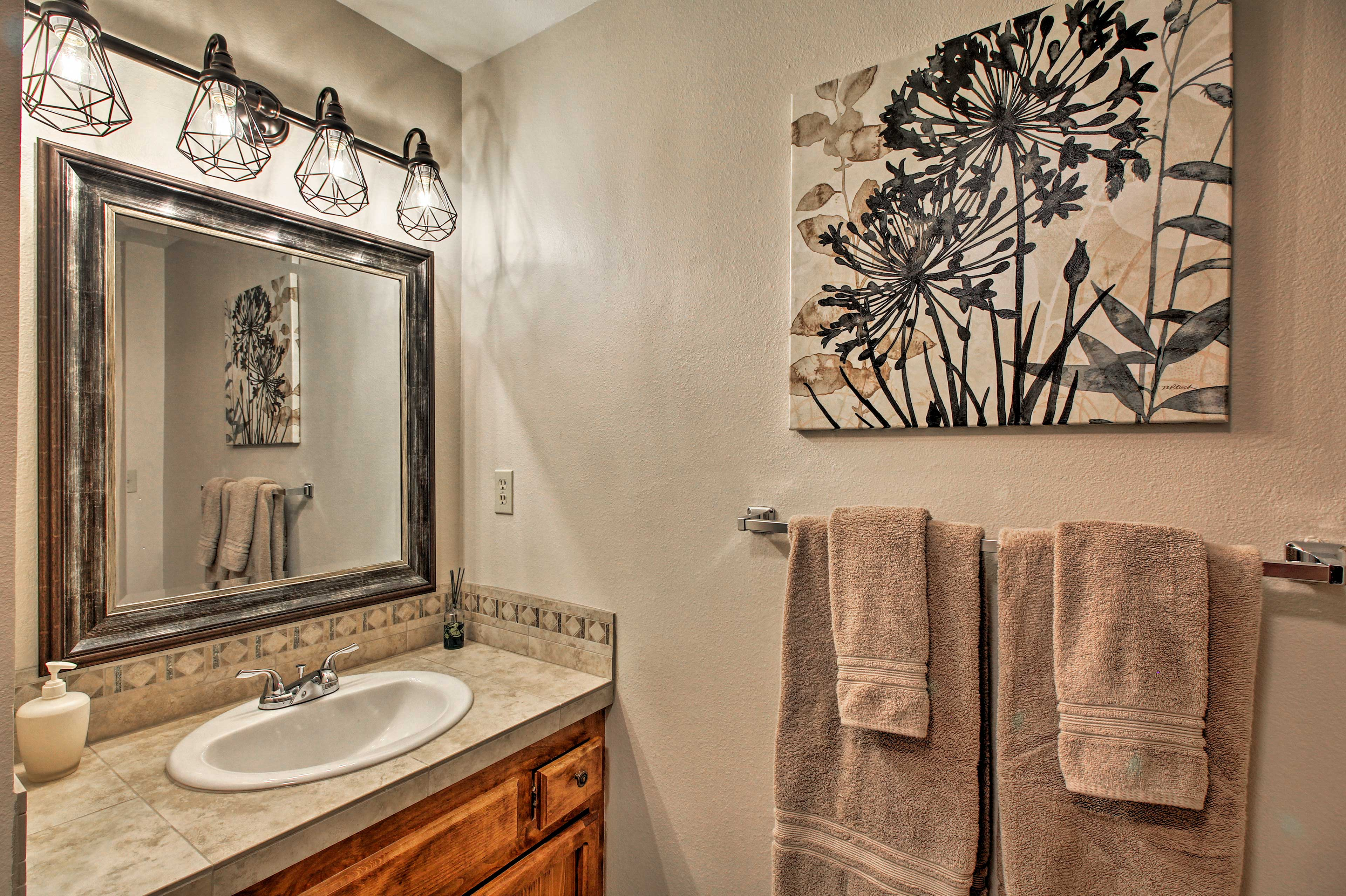 You'll love the tile-filled bathrooms.