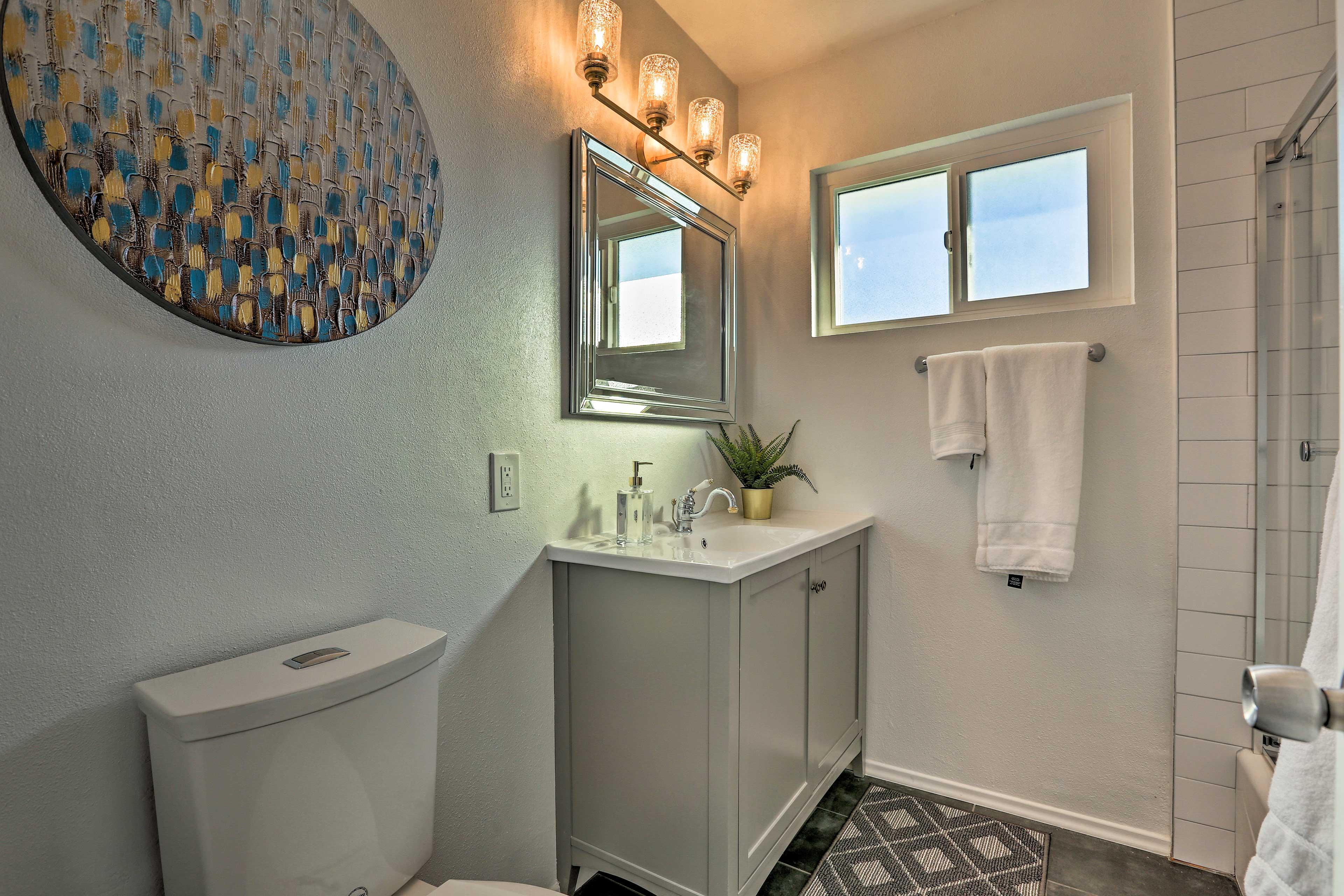The modern bathroom makes getting ready easy!