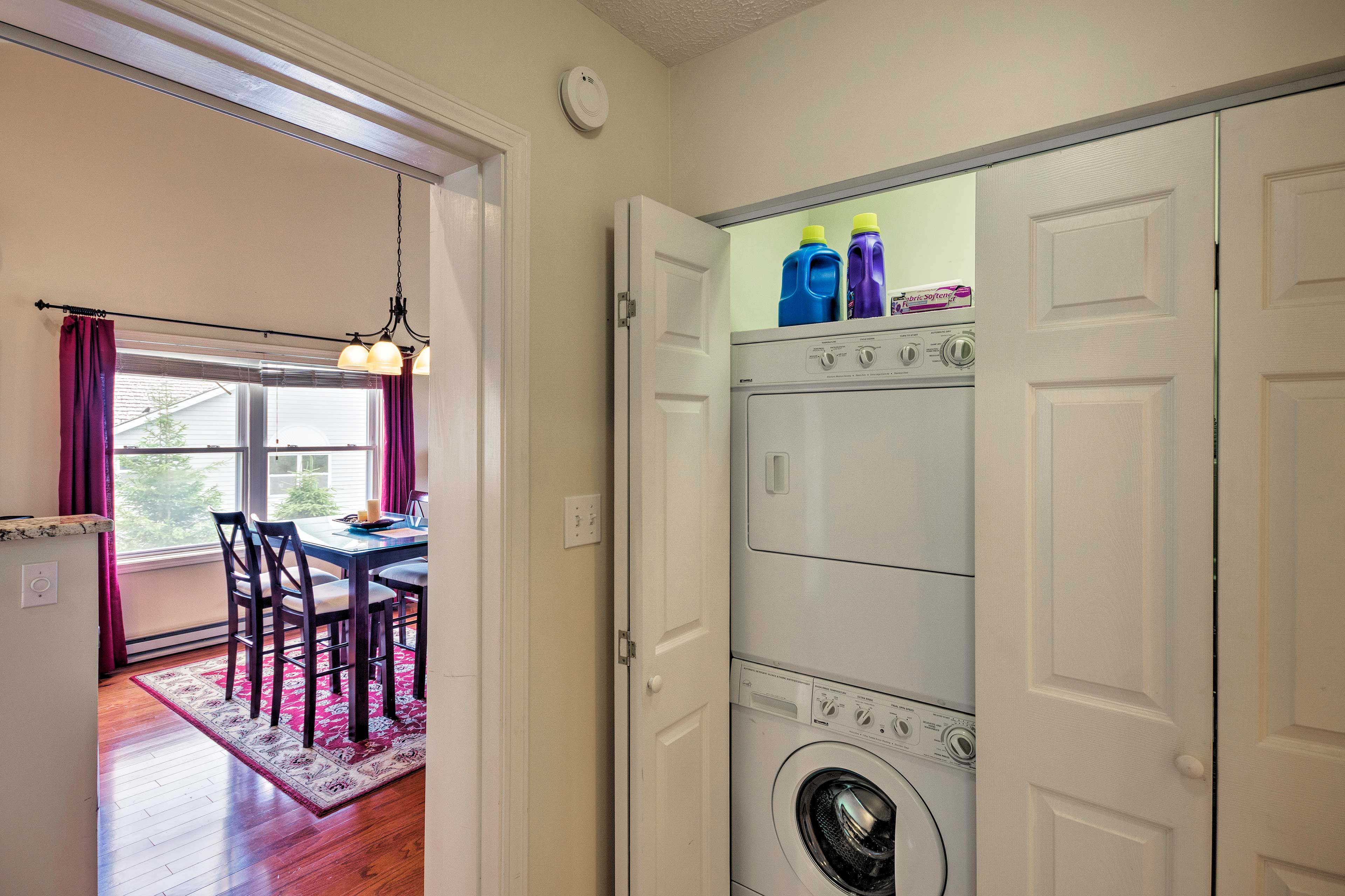 Keep your clothes fresh & clean with the laundry machines.