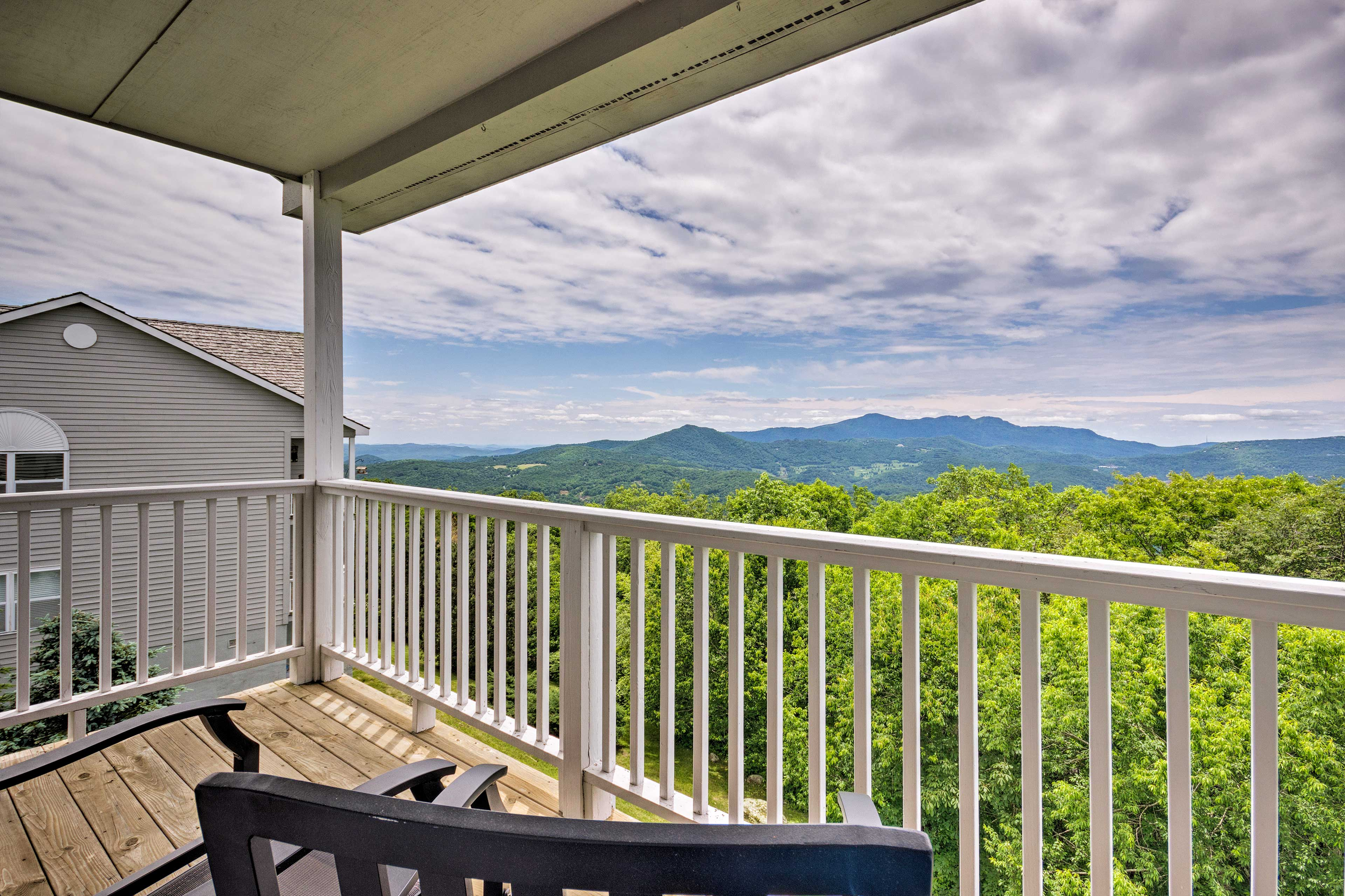You'll love unwinding on the private balcony with mountain views.