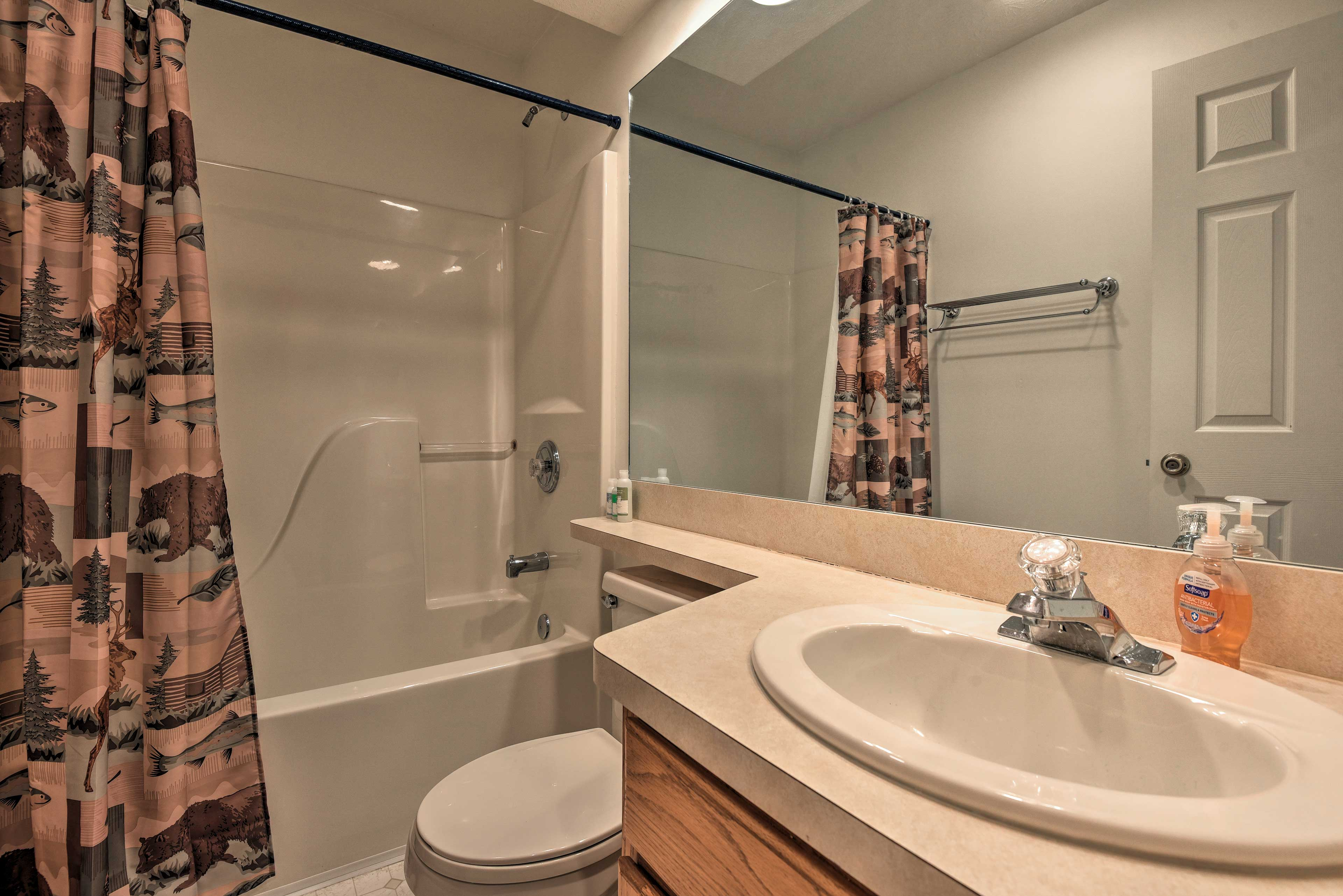 A second full bathroom provides additional space to get ready for the day!