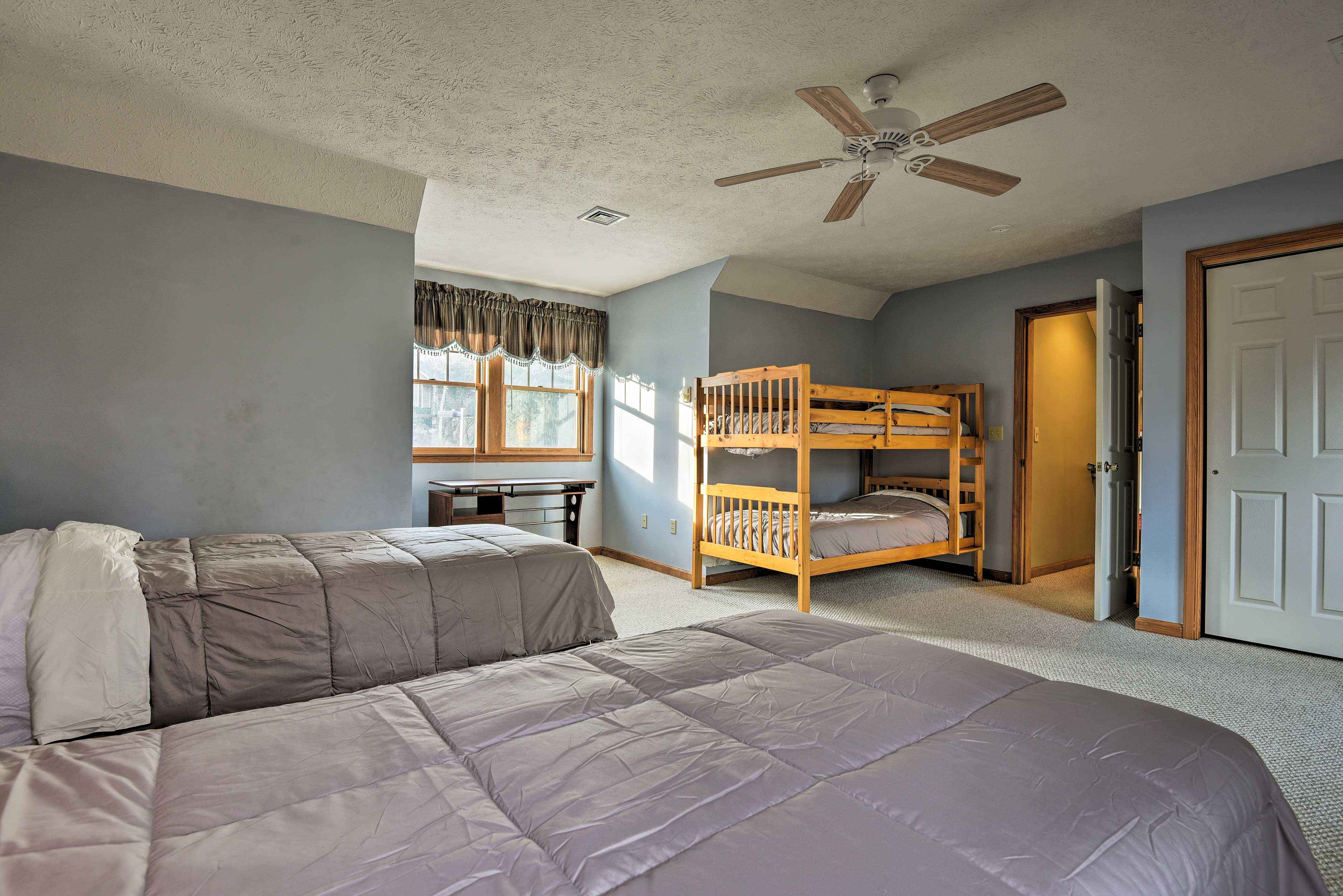 Kids love making the loft their home base for the trip!
