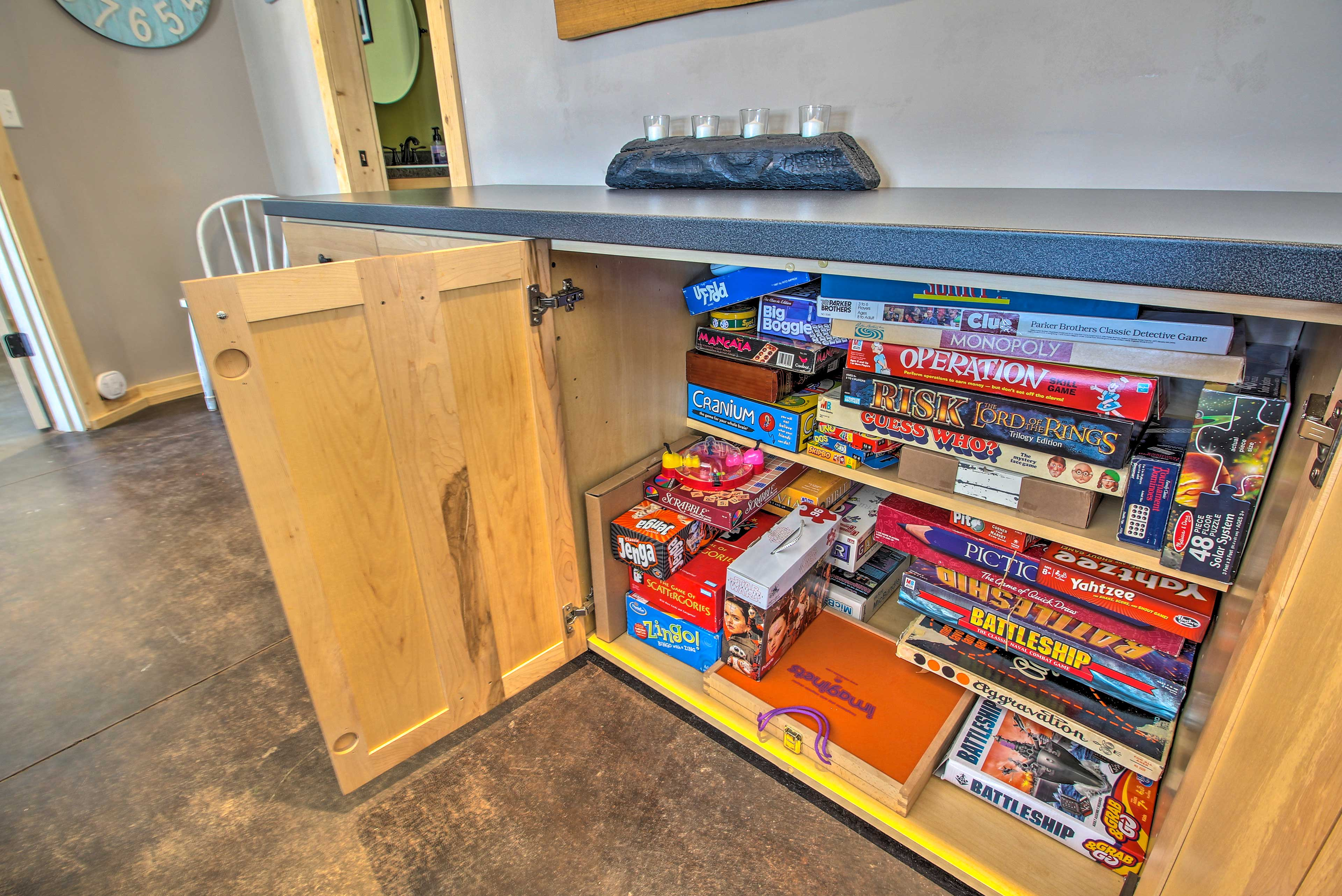 Find plenty of board games to keep the whole crew entertained!