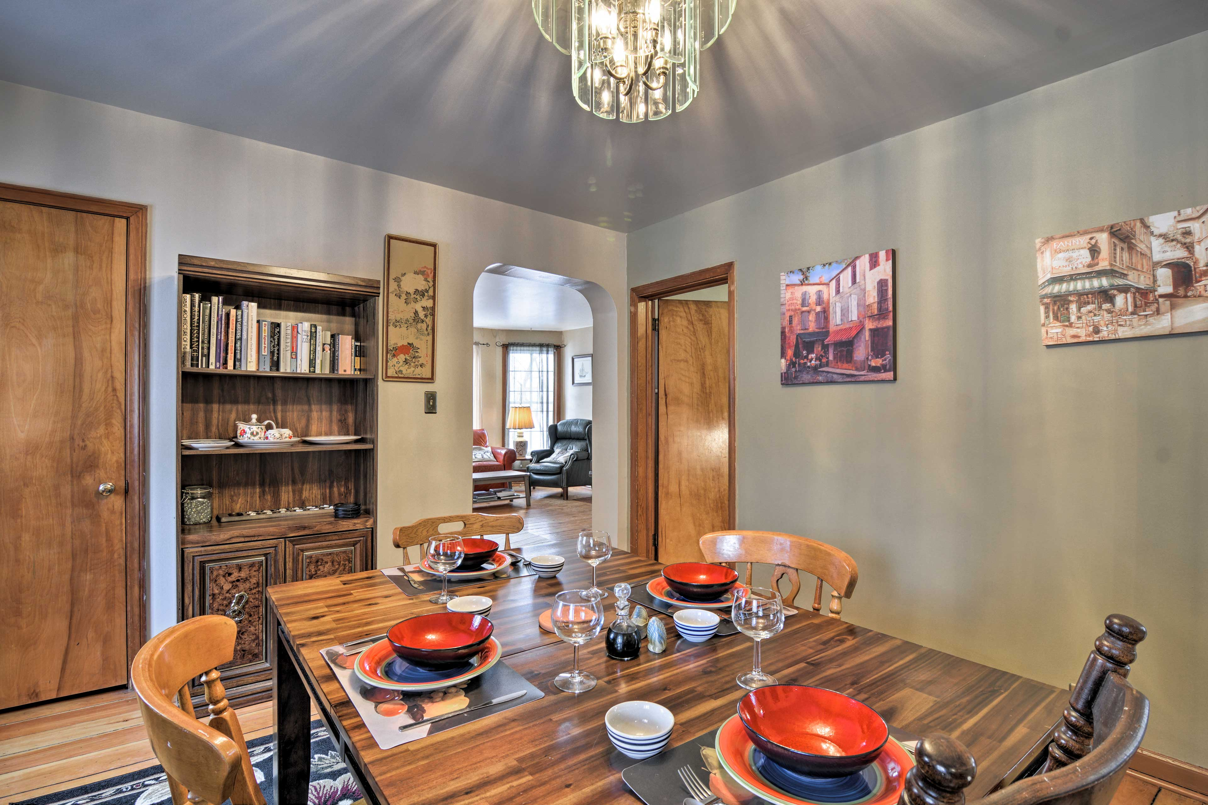Enjoy home-cooked meals in the dining room.
