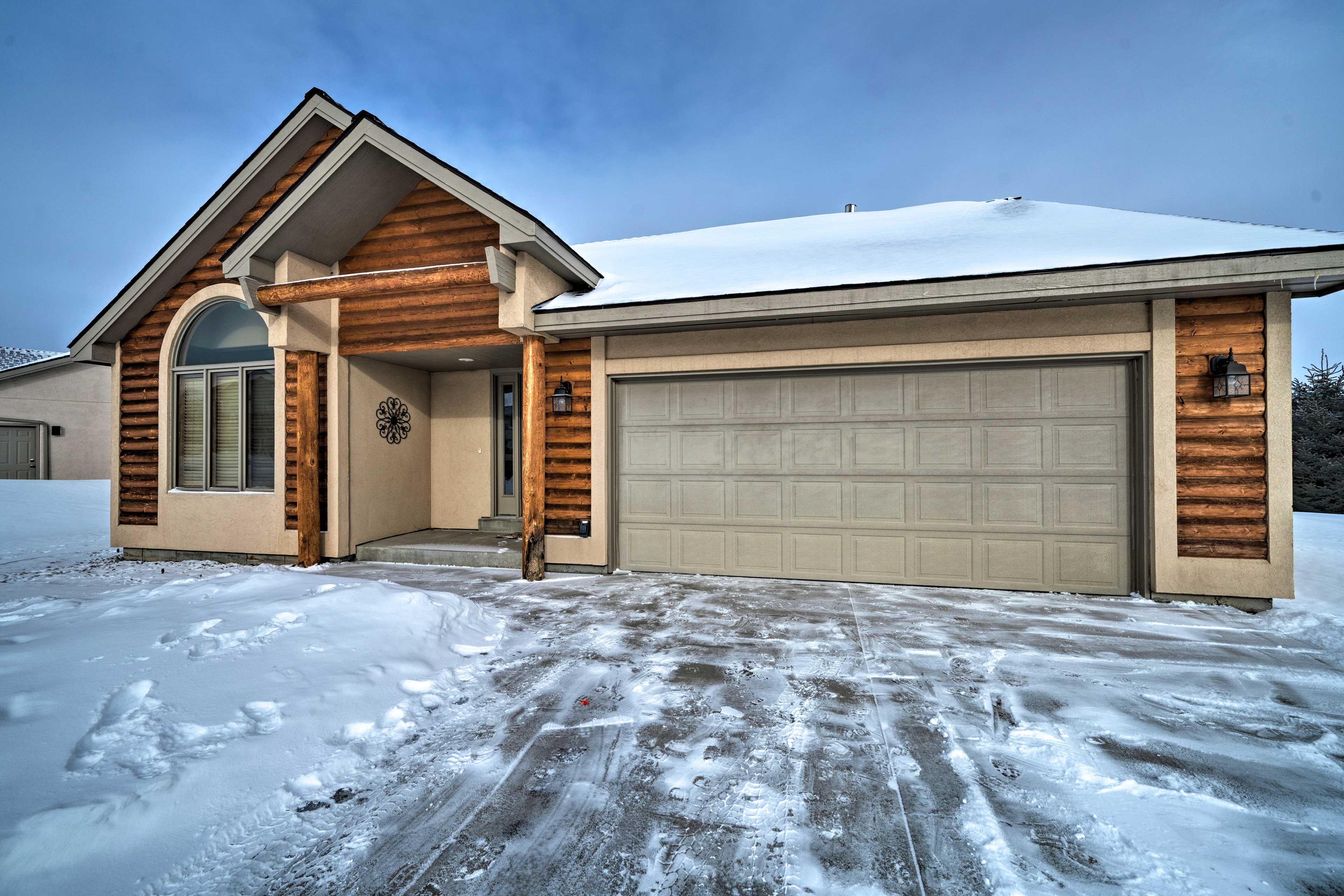 The house offers 2 bedrooms, 2 bathrooms, and over 1,300 square feet!