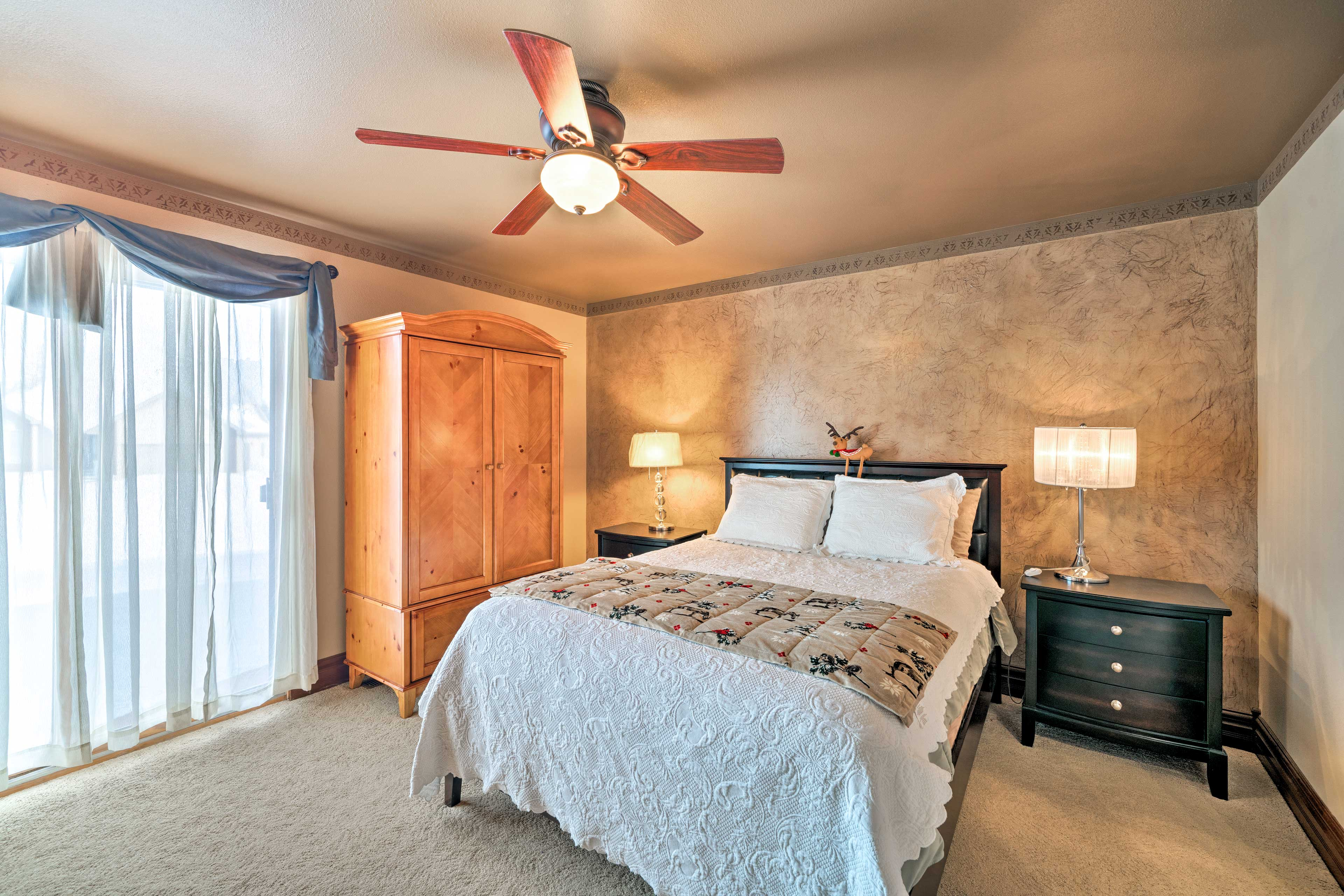 Make your way to either of the 2 bedrooms when it's time to hit the hay!