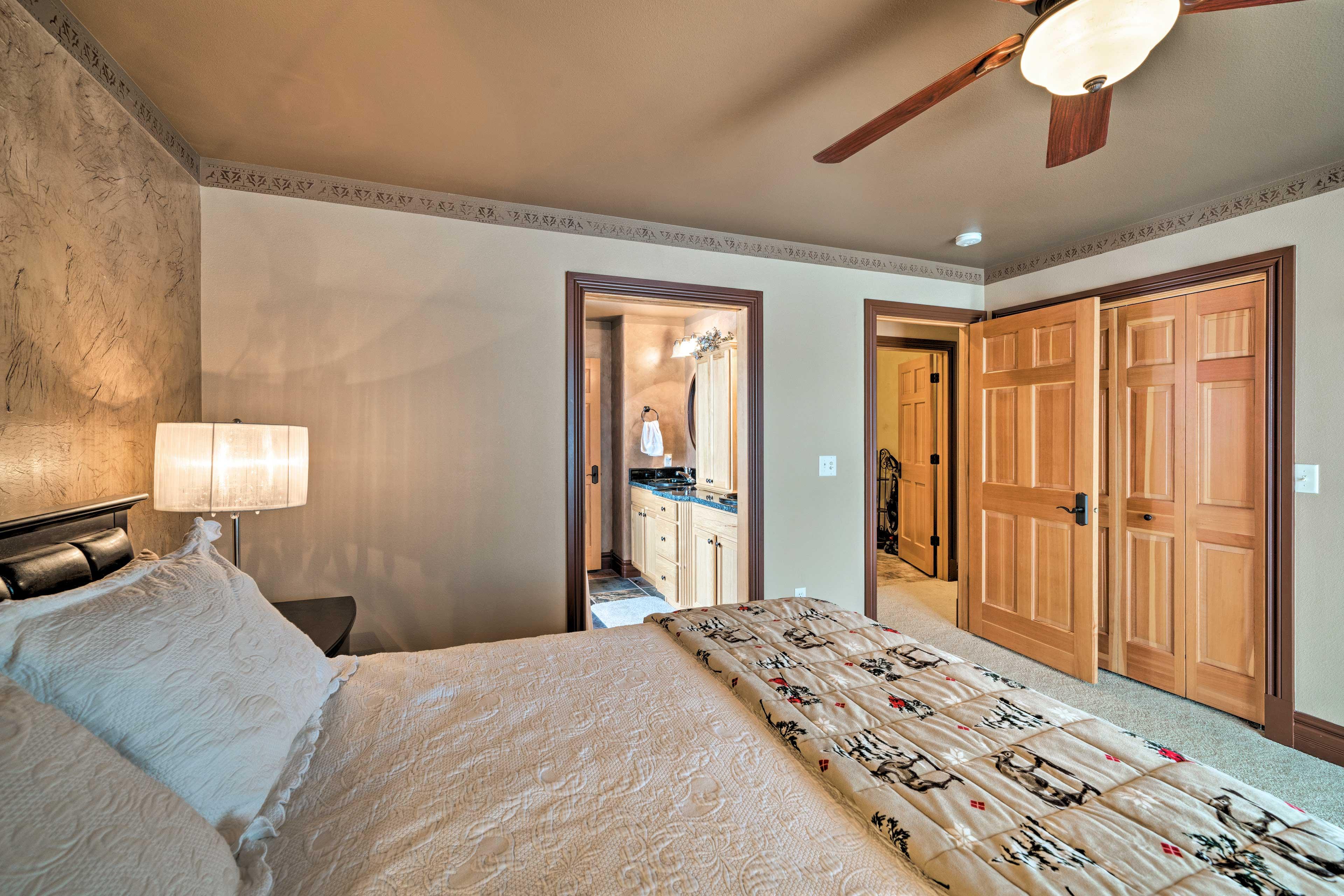 The first room has an en-suite bathroom!