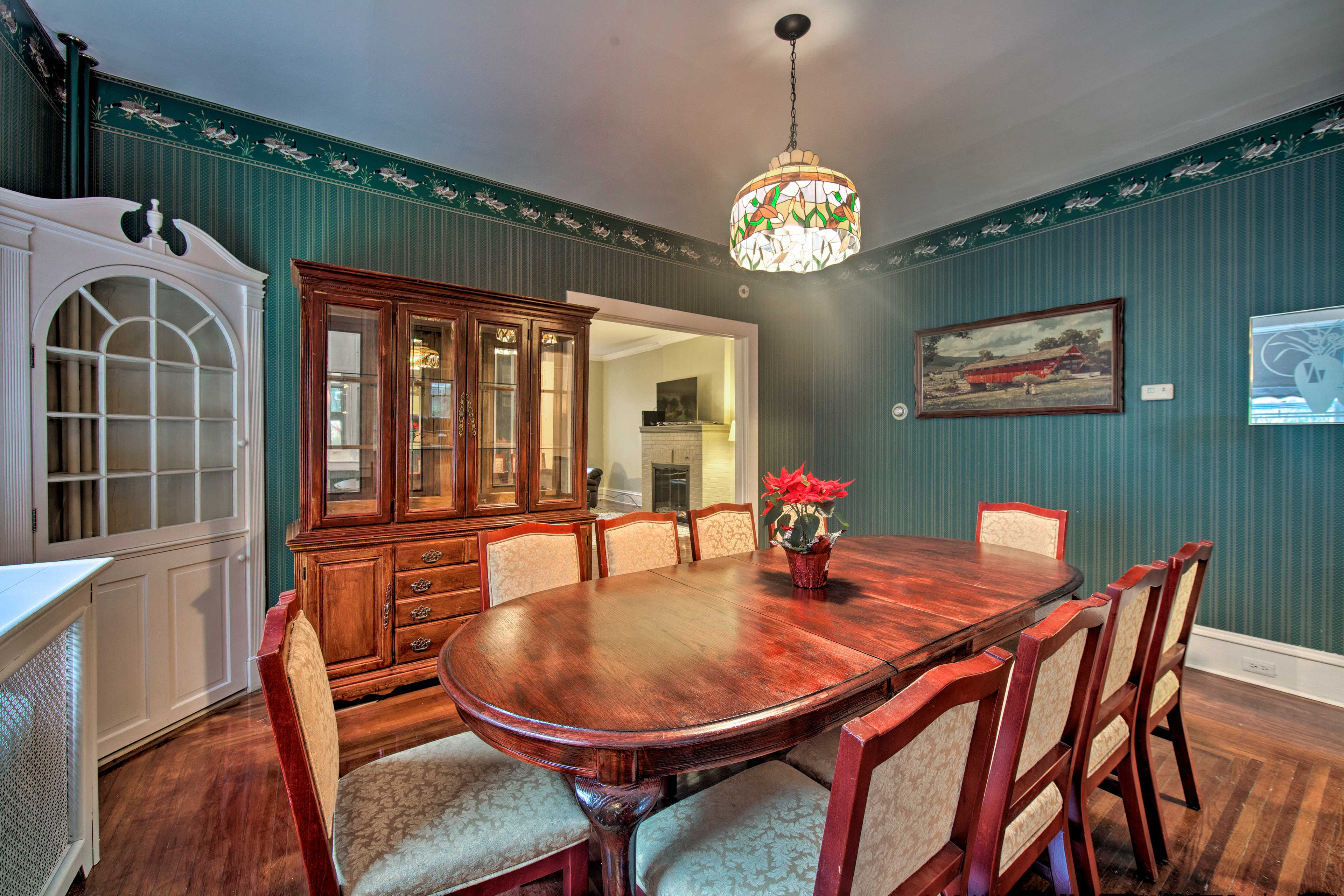 Feast in the formal dining room with room for everyone!