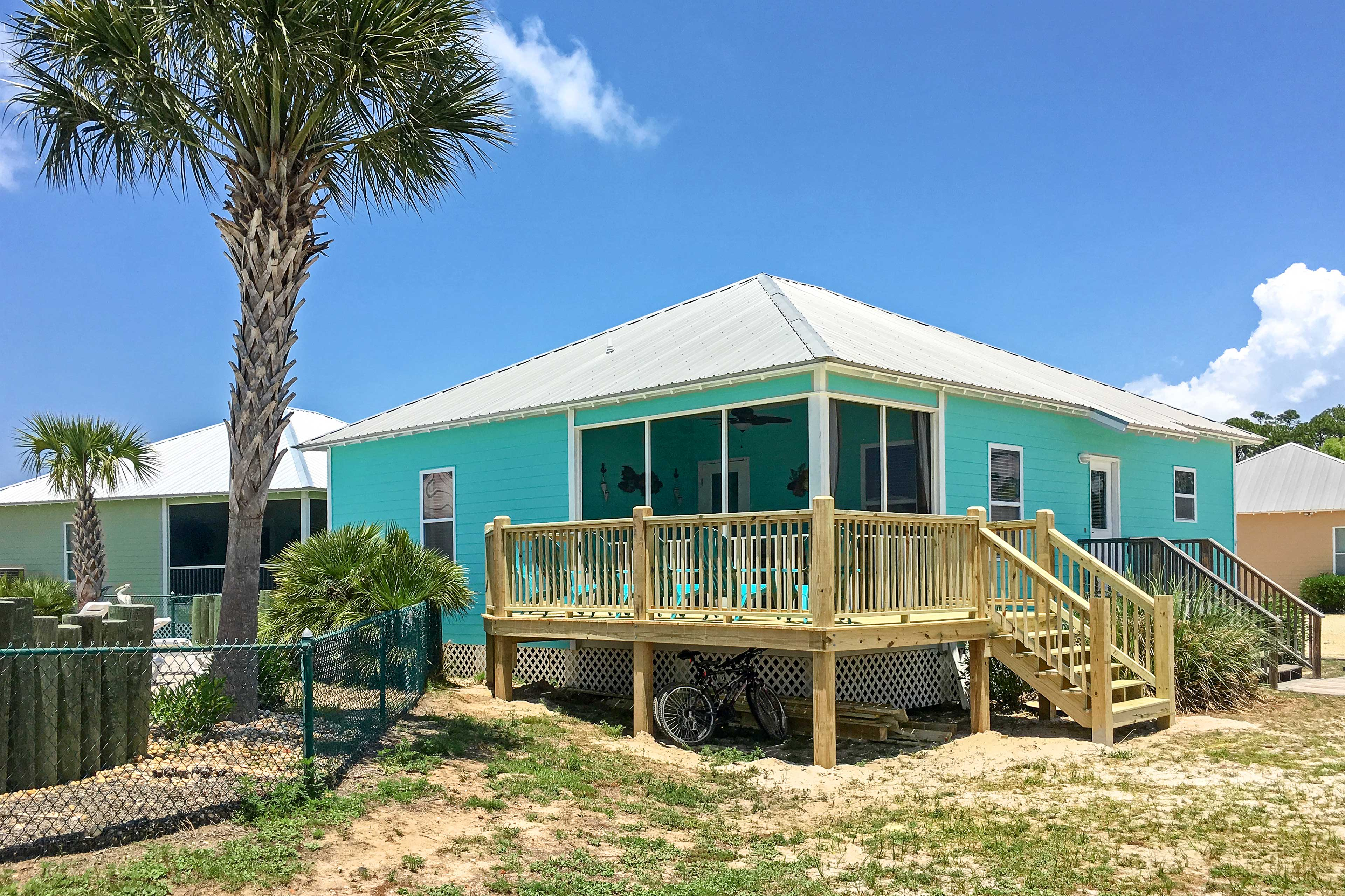 Exterior | Walk to Community Pool | Private Deck | Seating