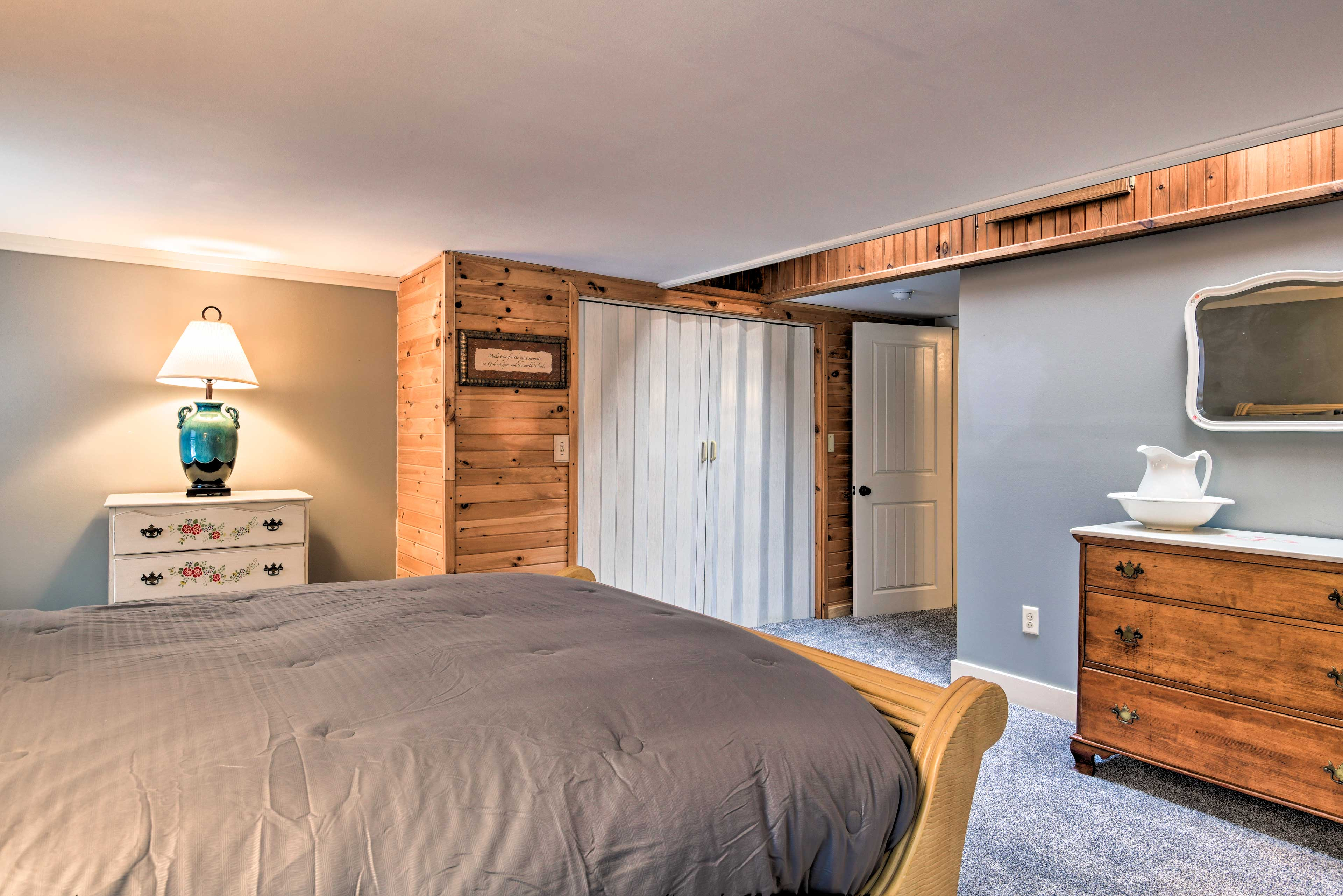 Each room has plenty of closet space and a dresser for all of your clothes.