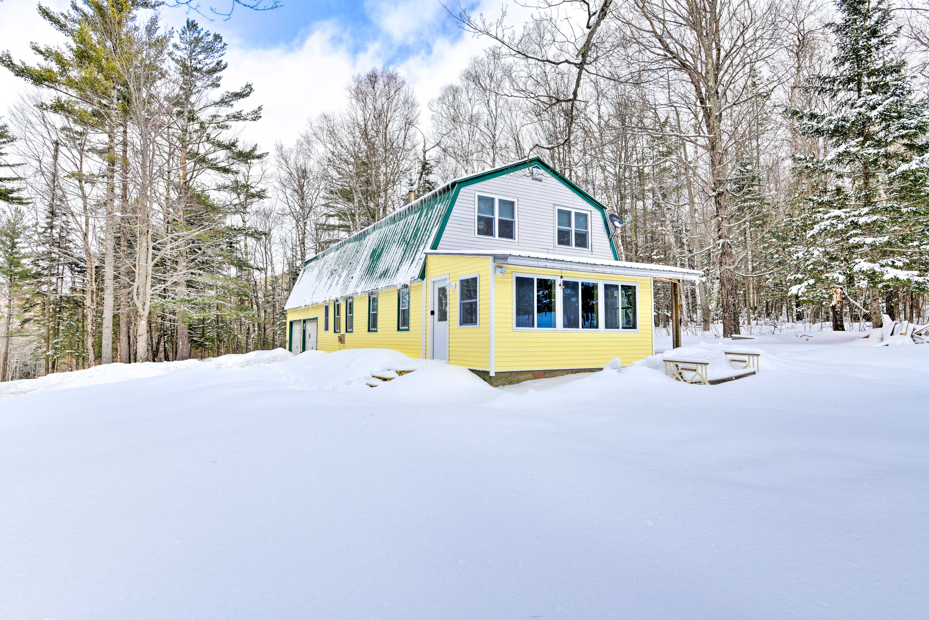 The home sits on 13 acres of quiet land.