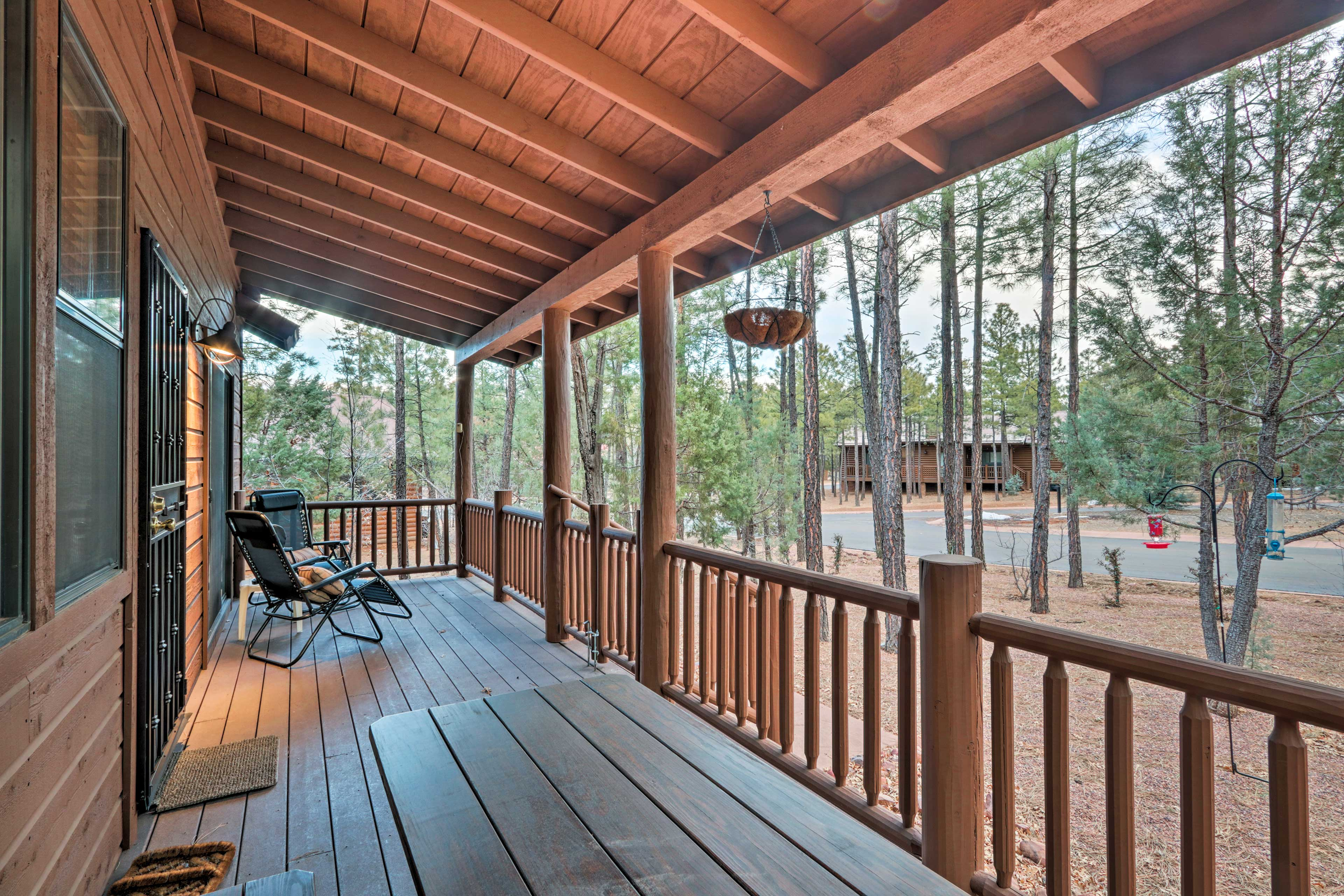 Spend mornings lounging on the deck.