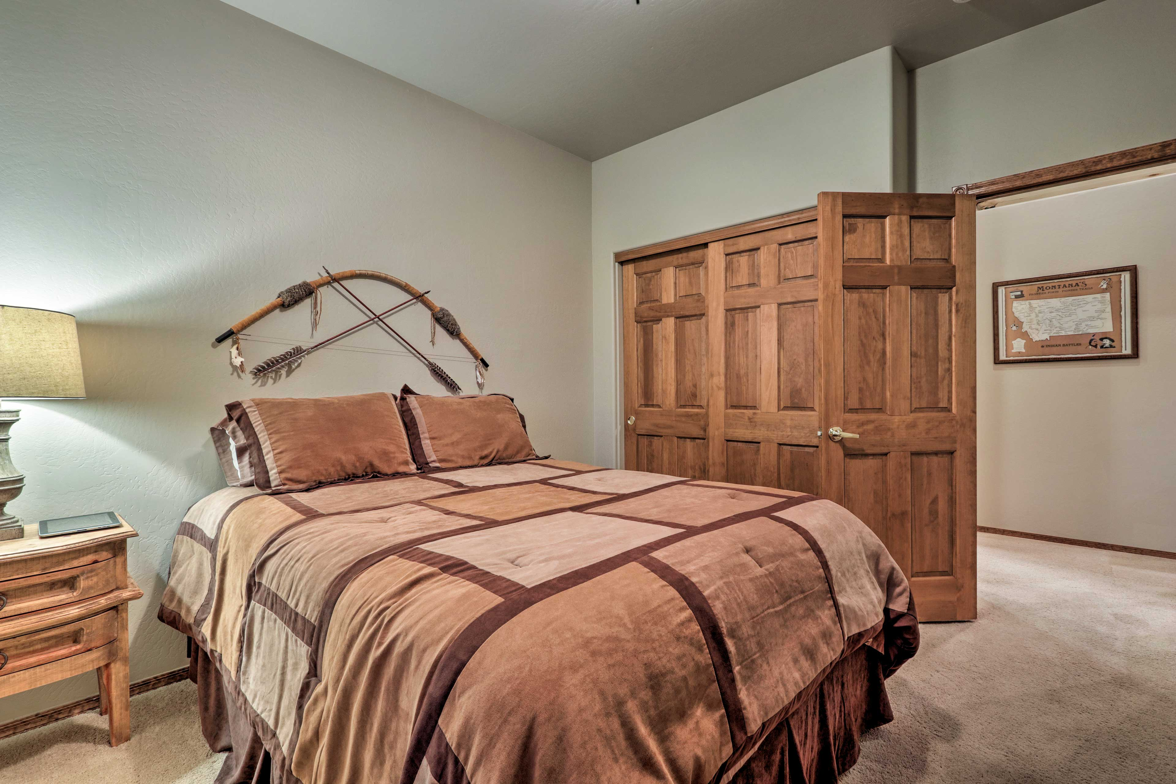 Both bedrooms offer a peaceful retreat.