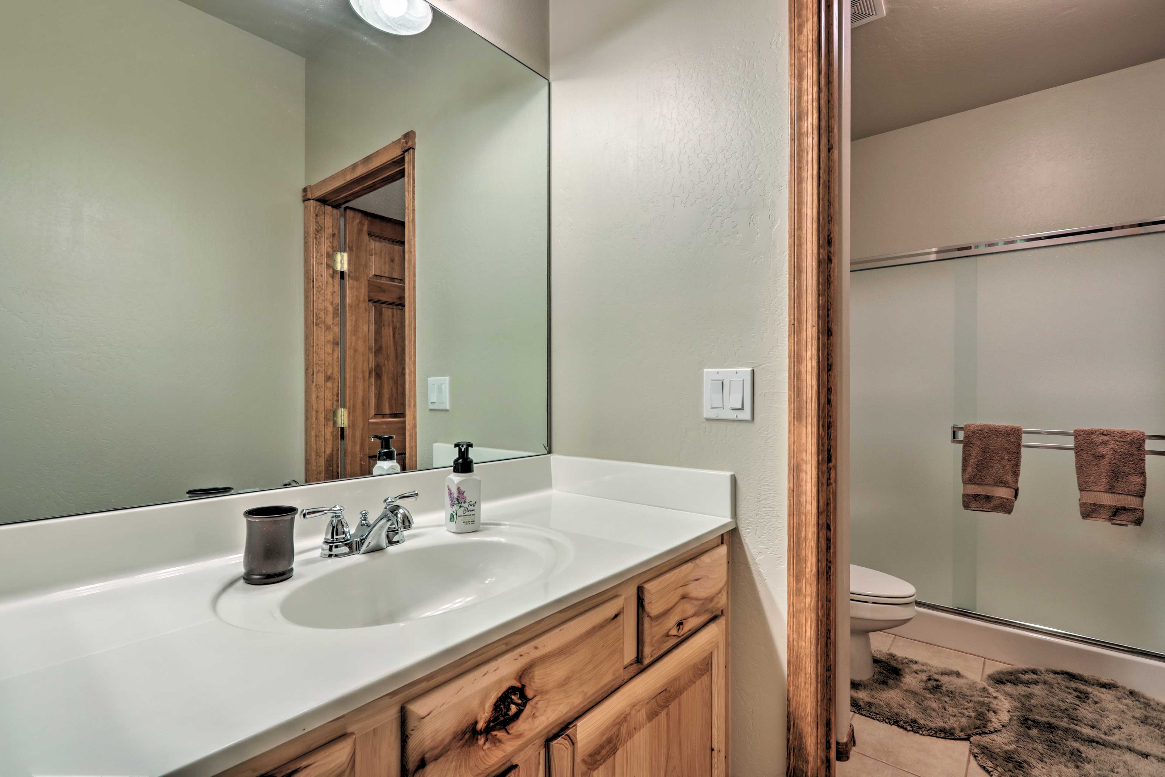 The home features 2 full bathrooms.