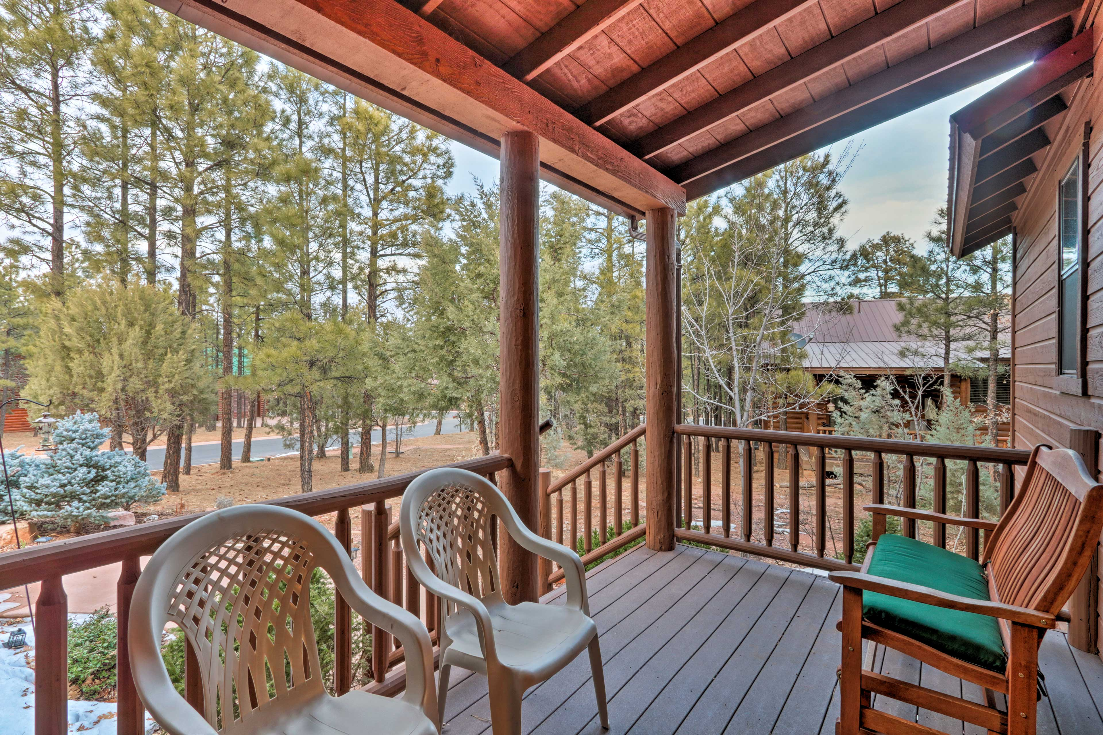 Sip your morning coffee on the deck.