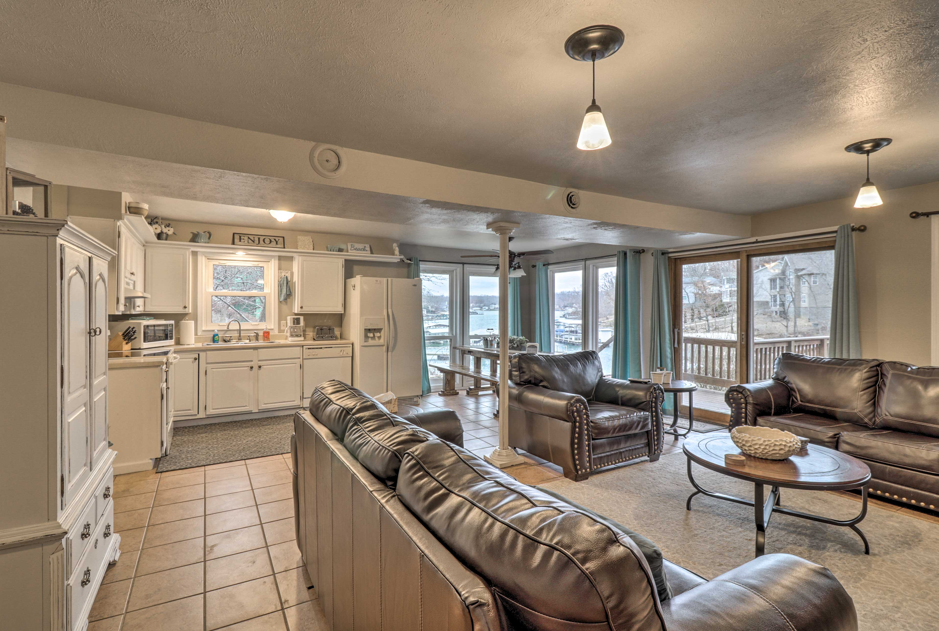 The living room shares an open-concept layout with the kitchen.