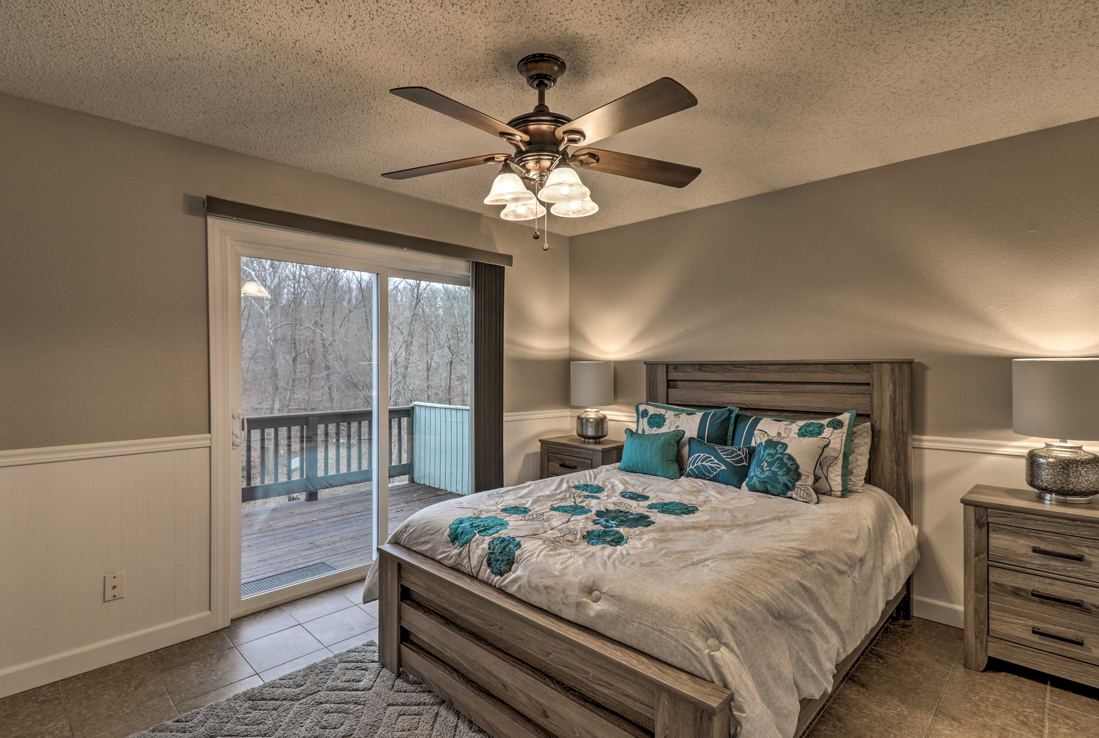 The second bedroom also includes private access to the deck.
