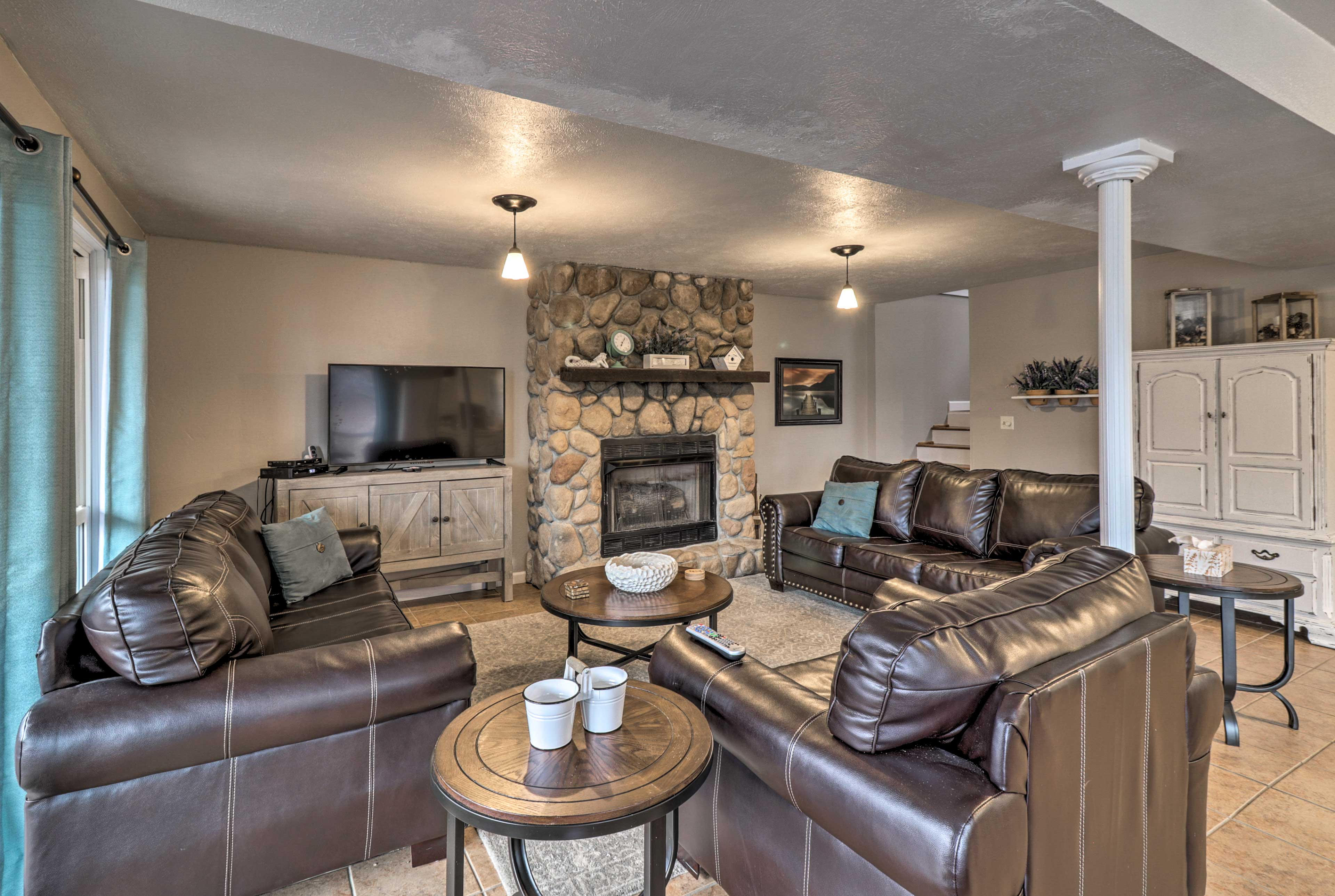 Look forward to peaceful days relaxing in this 3-bed, 2-bath vacation rental.
