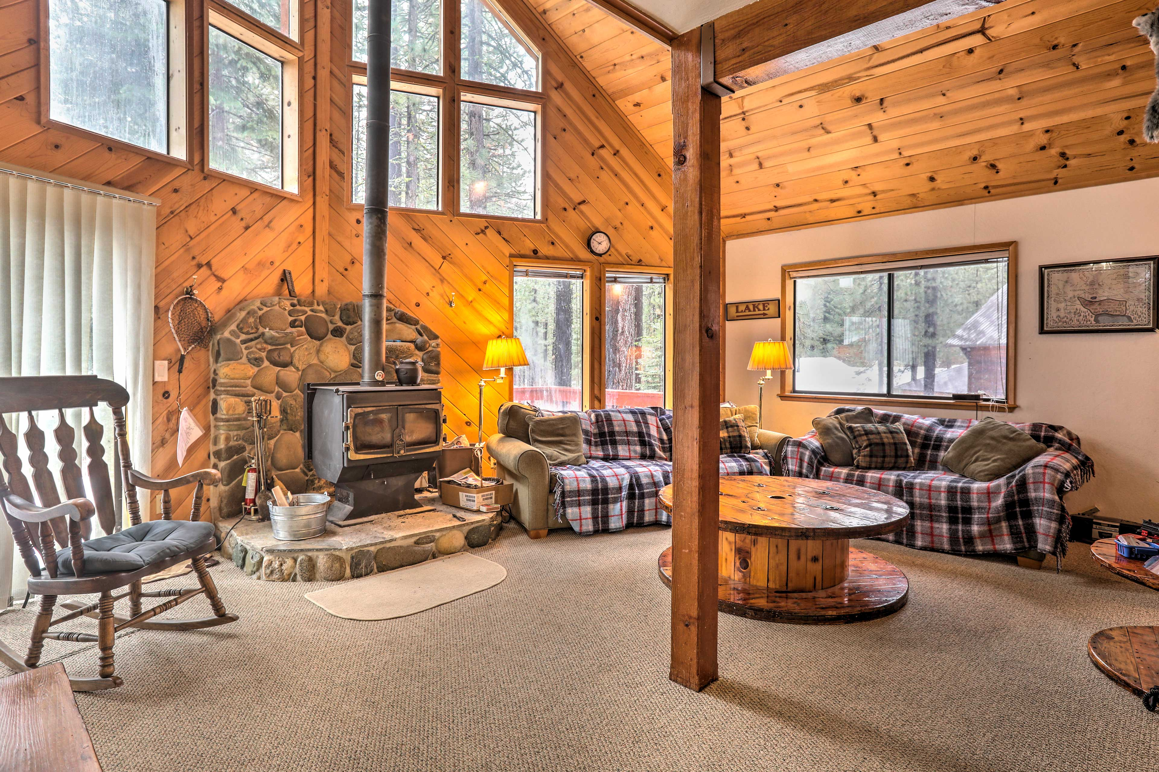 This vacation rental cabin is the perfect destination for Tahoe adventures.