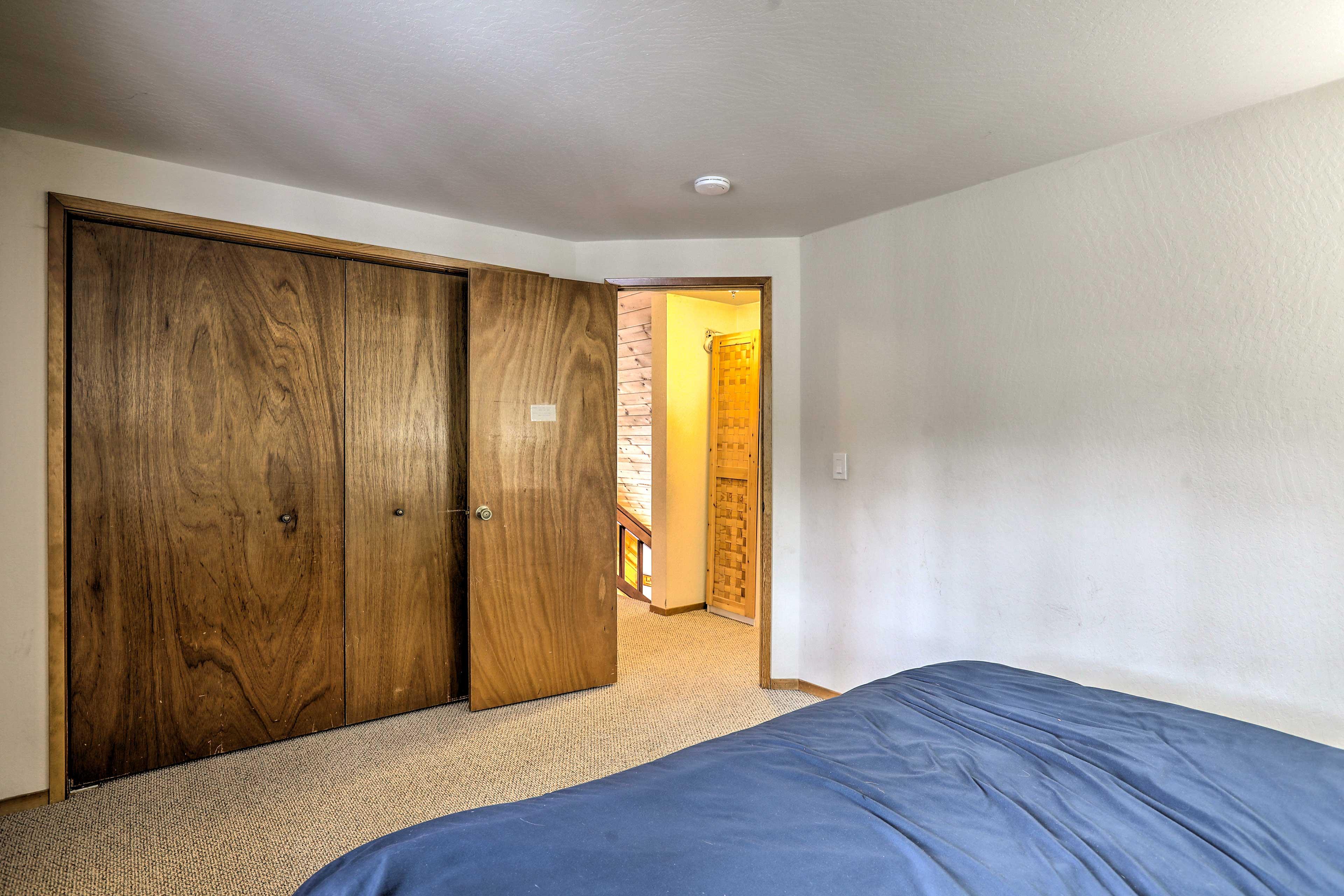 Feel free to unpack & organize using this spacious closet!