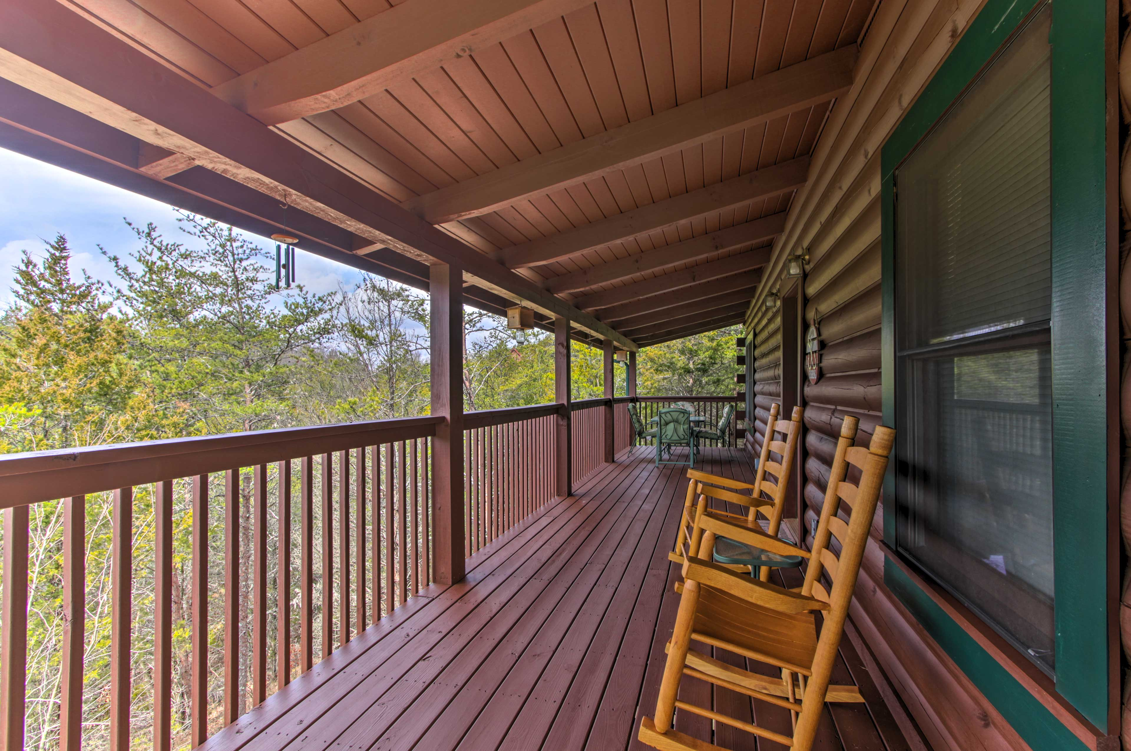 Sunshine or rain, you can enjoy the covered deck!