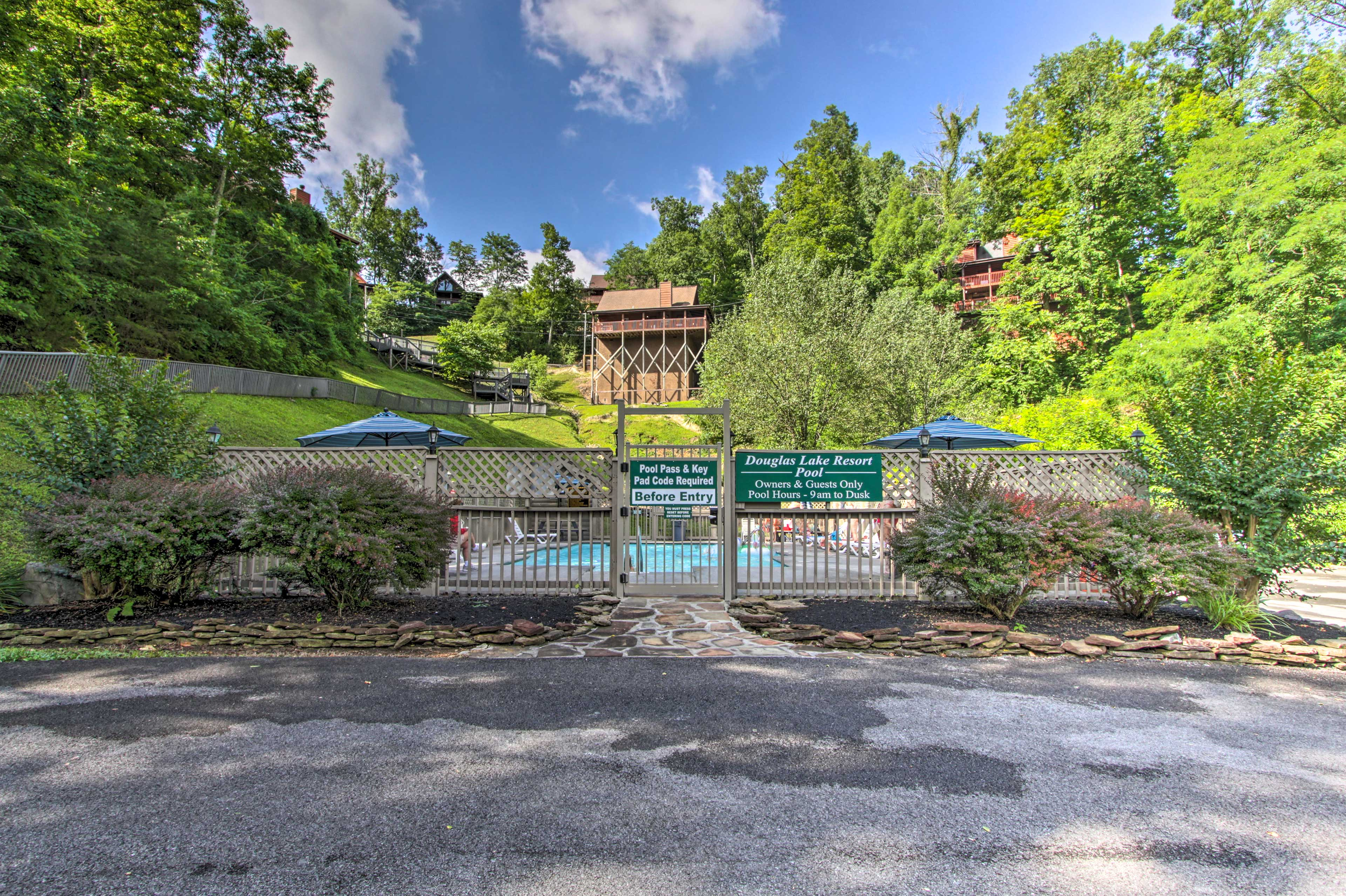 The property provides access to a community pool!