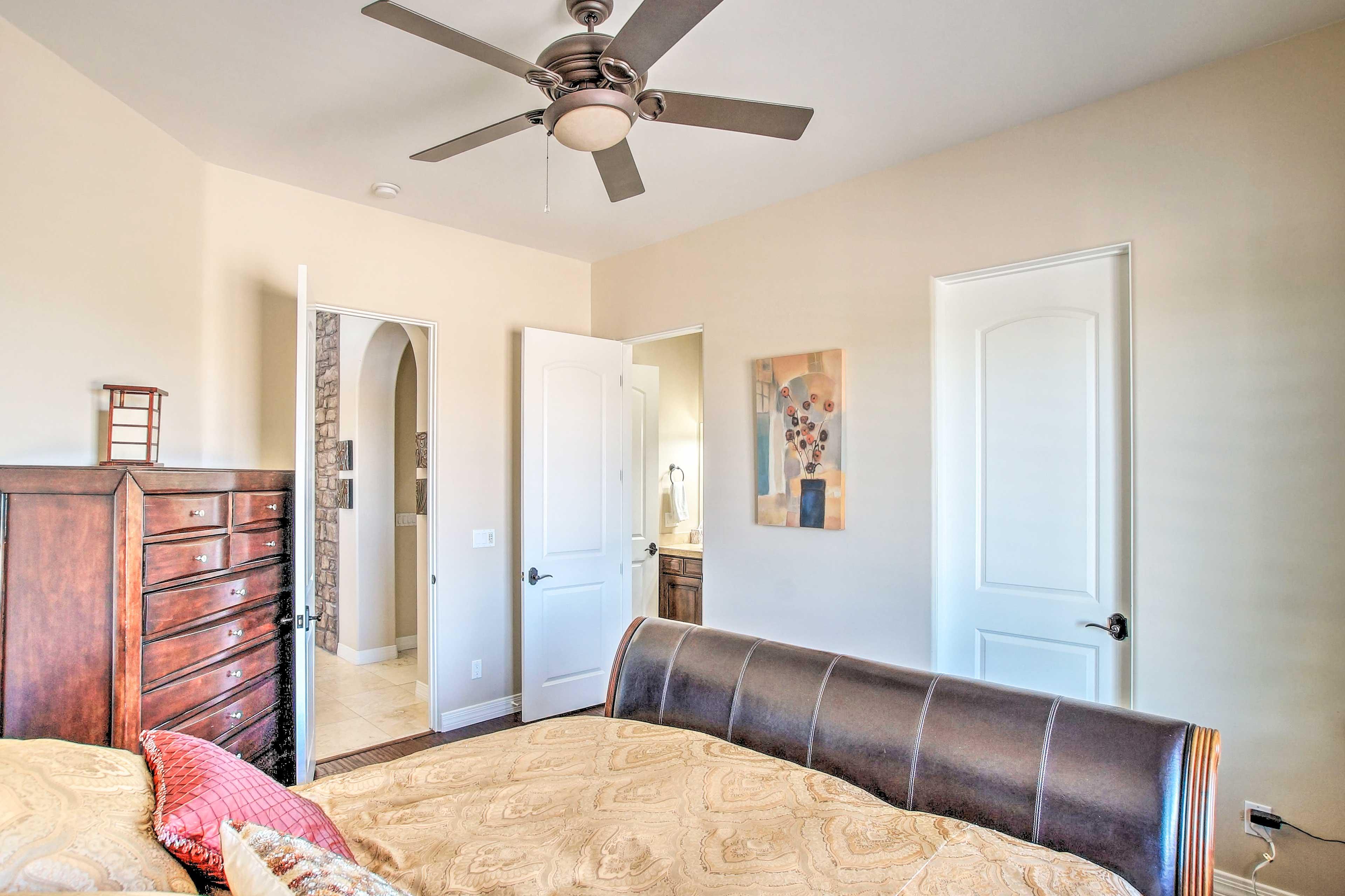 The room features an en-suite bathroom.