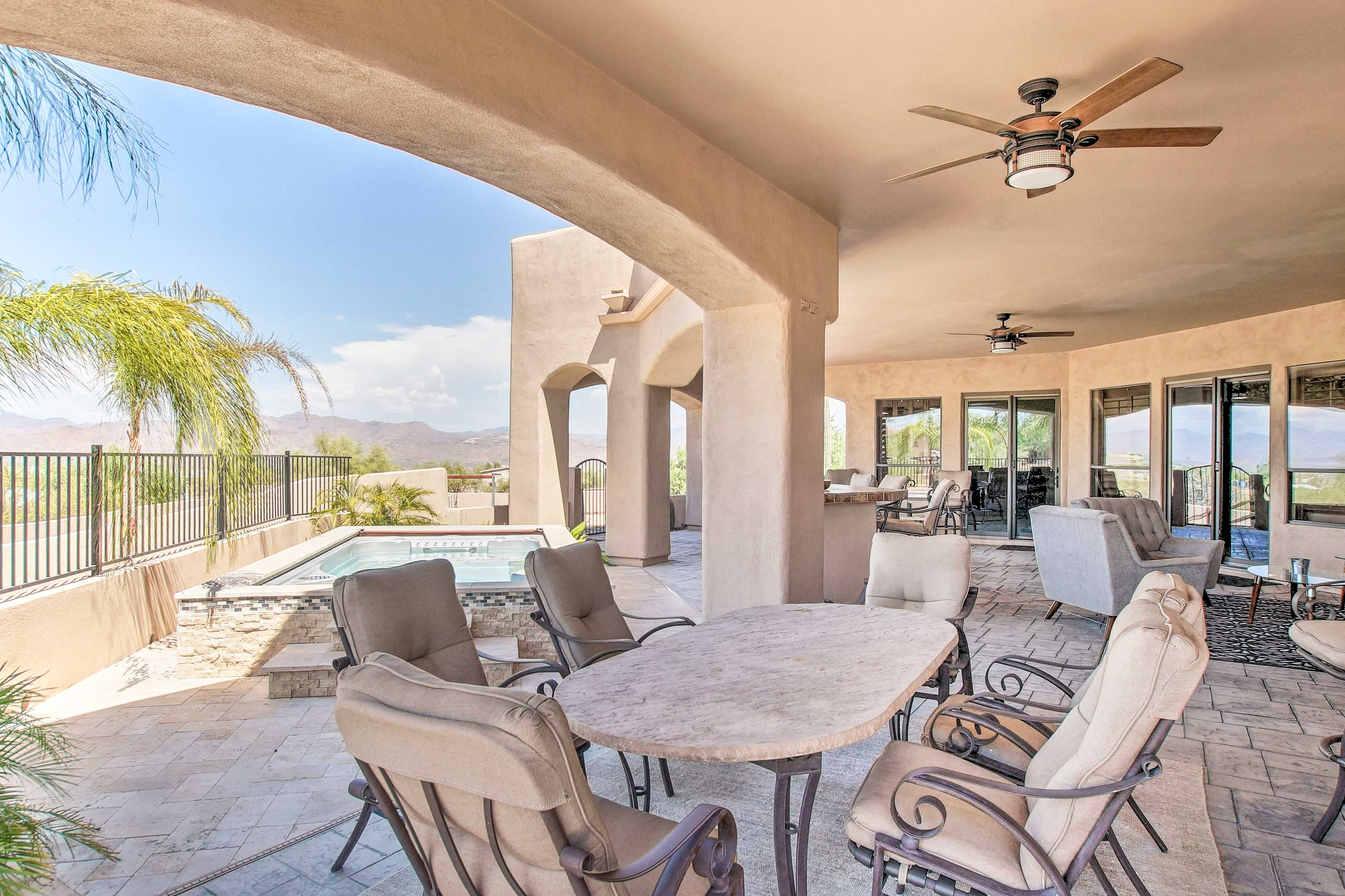 With a furnished patio, pool, hot tub, and more the property has it all!
