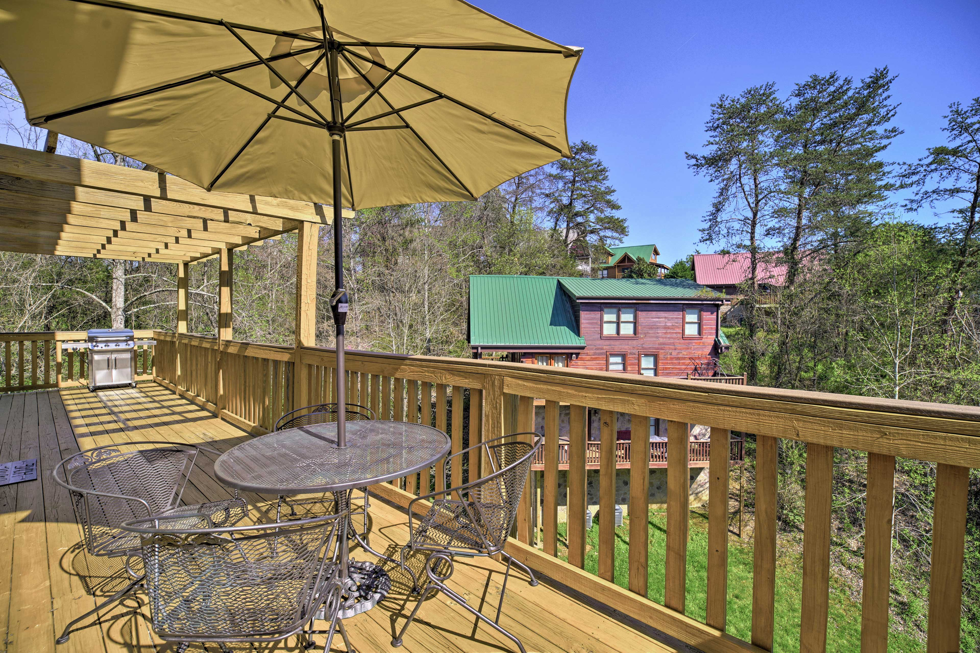 You'll never grow tired of the views from the wraparound deck!