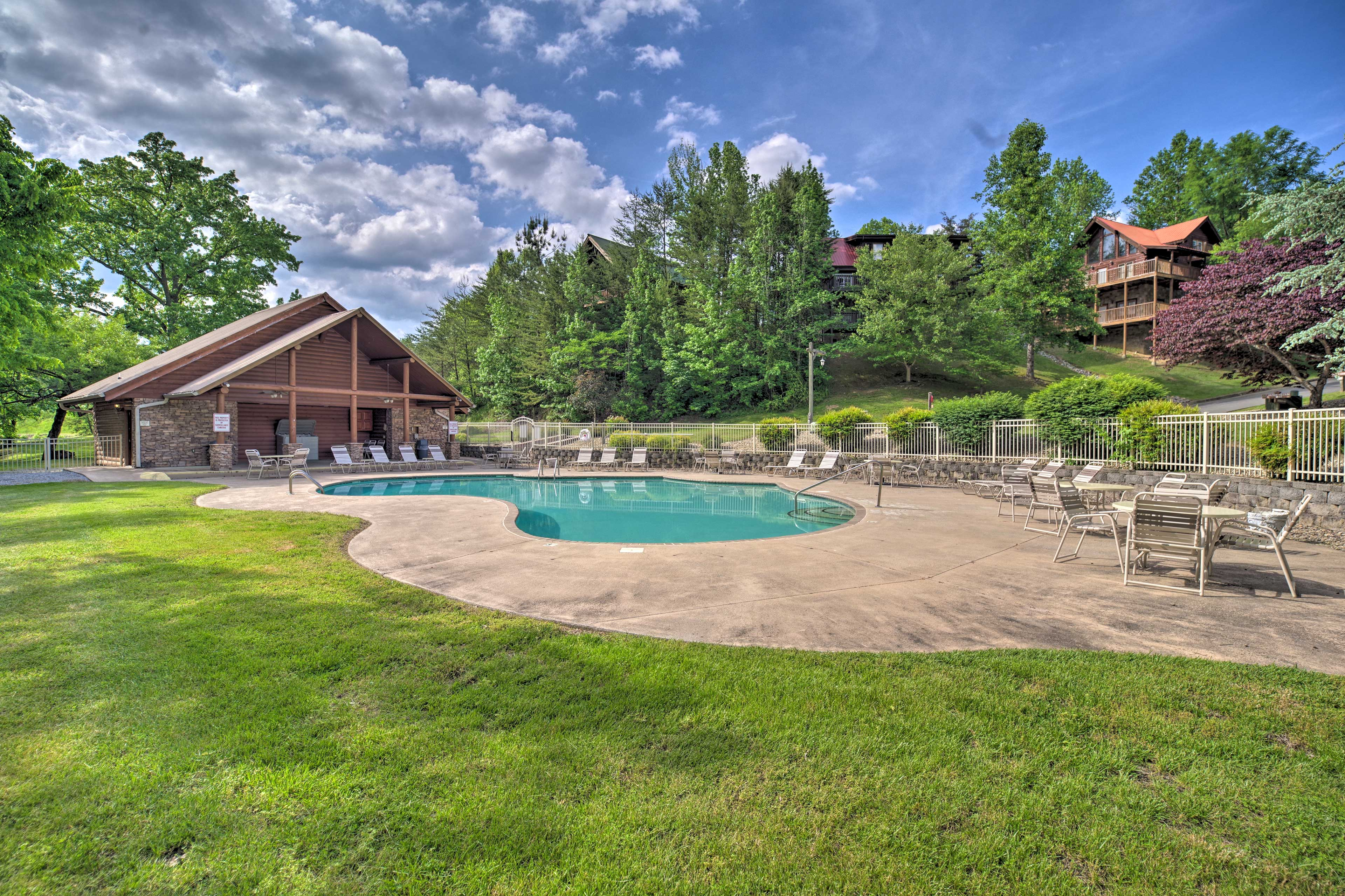 Cool off with a swim in one of the 2 community pools.