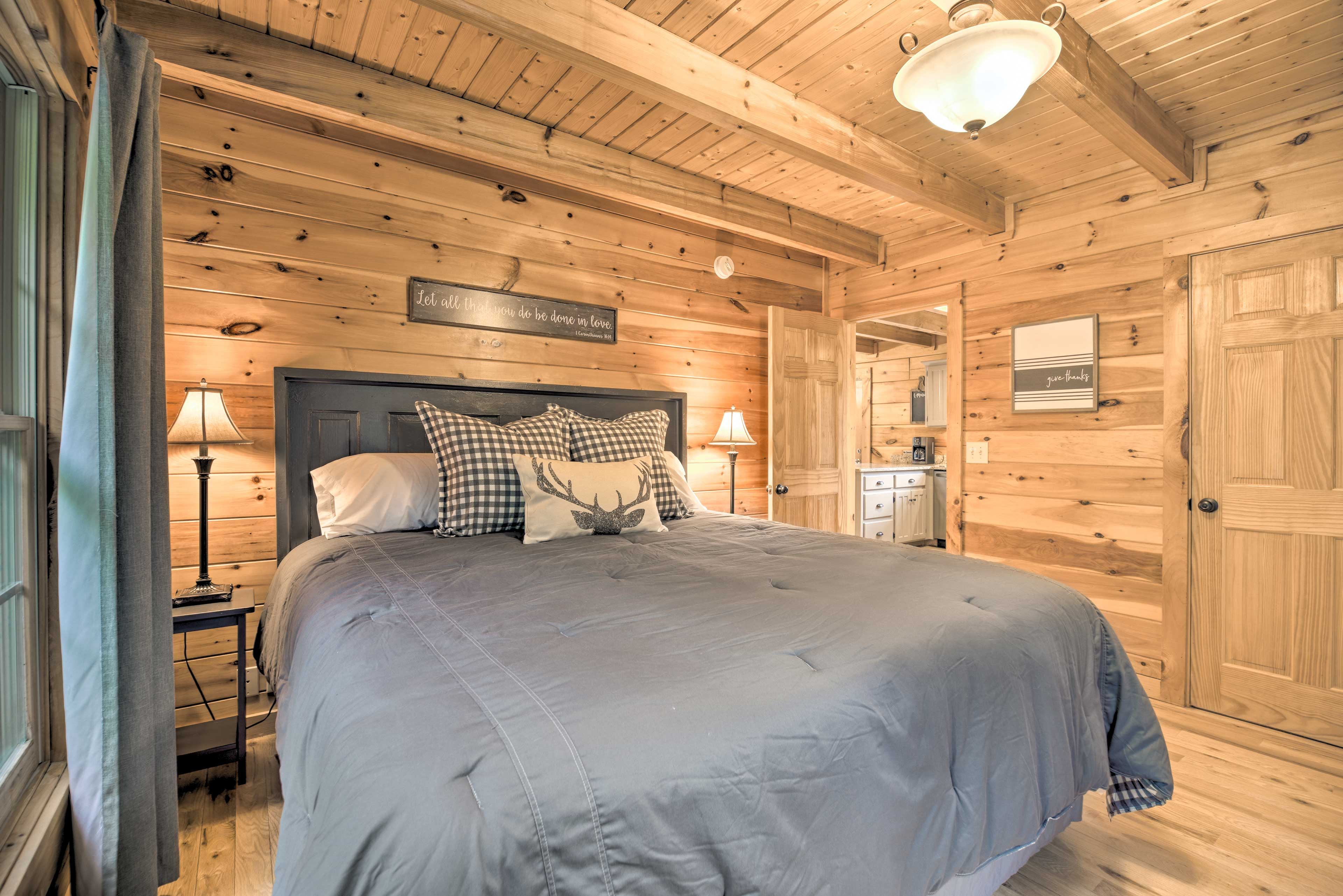Retreat to the bedroom to rest.