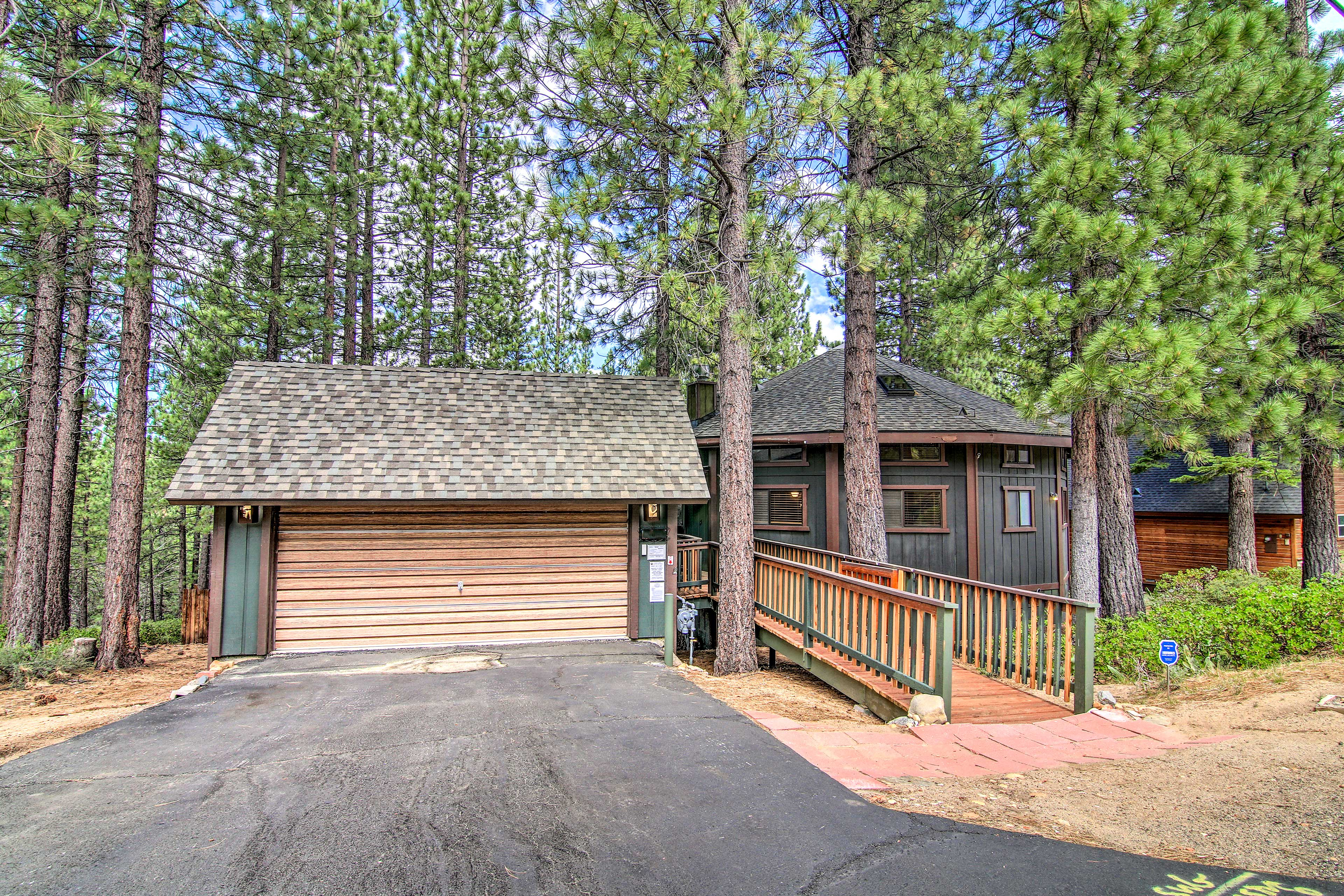 Near lake beaches and ski lifts, this home is a perfect mountain escape.