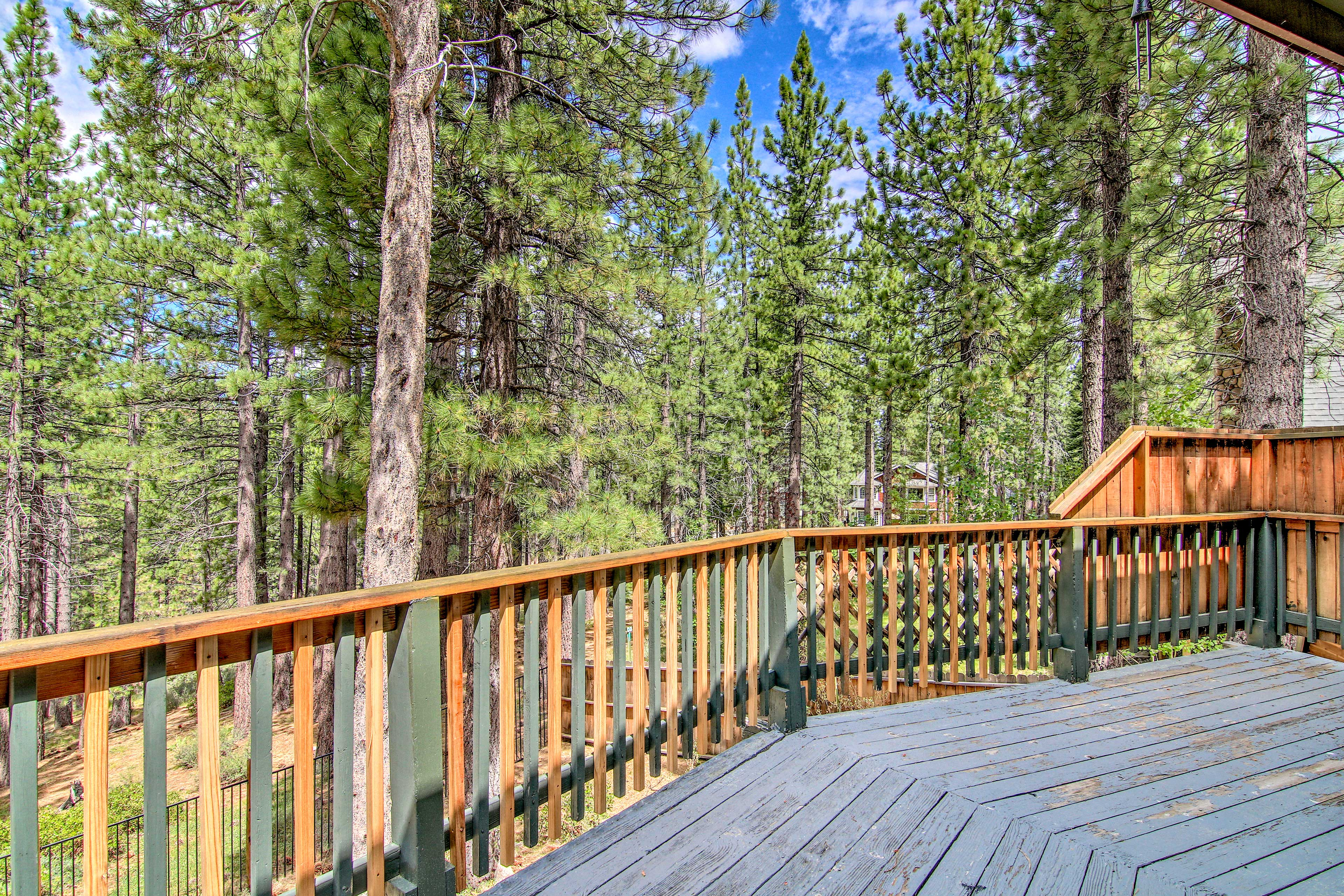 Take in the mountain air from the deck.