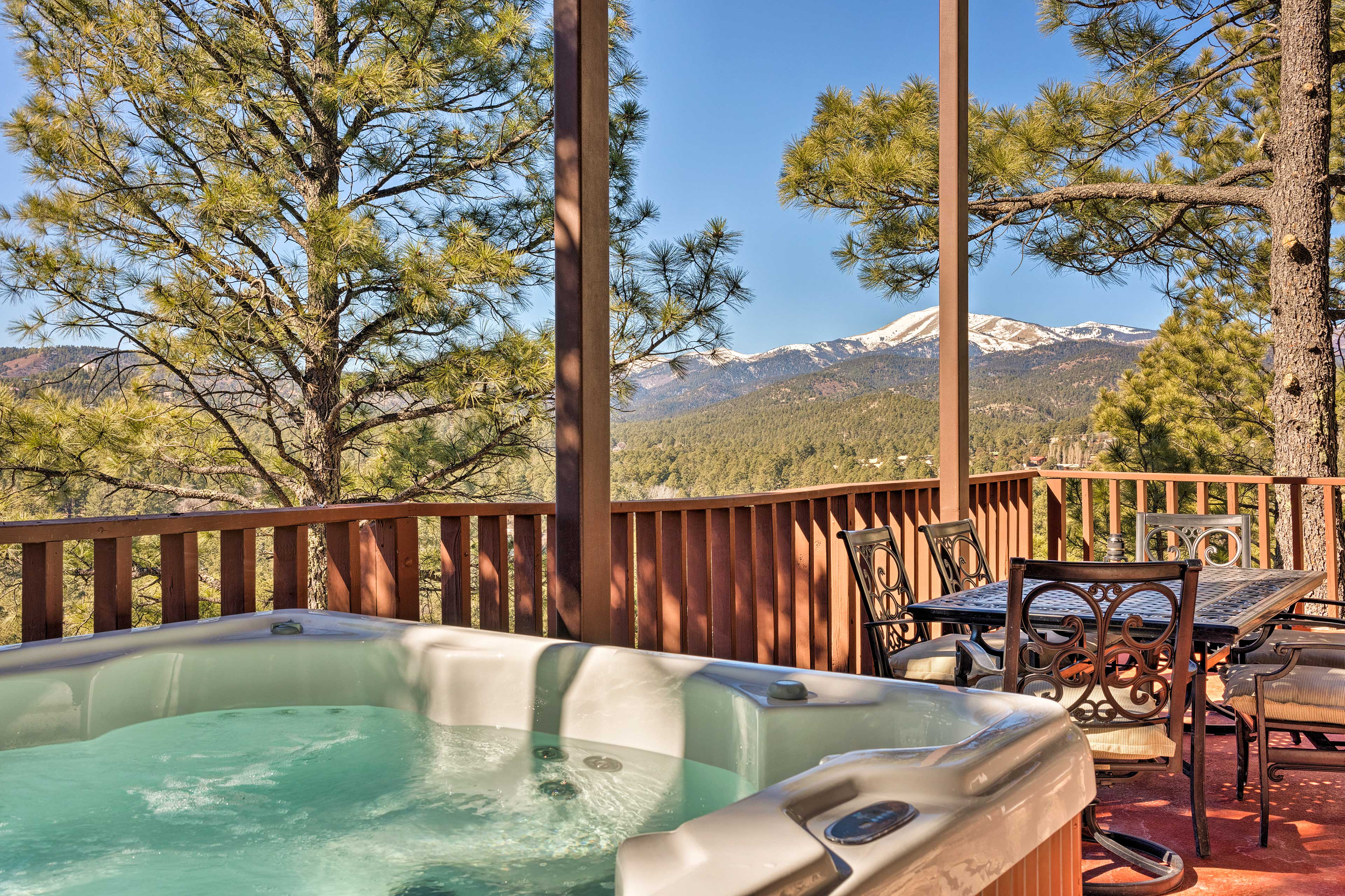 Book a trip to this luxurious 6-bedroom, 6-bath vacation rental condo for 16.