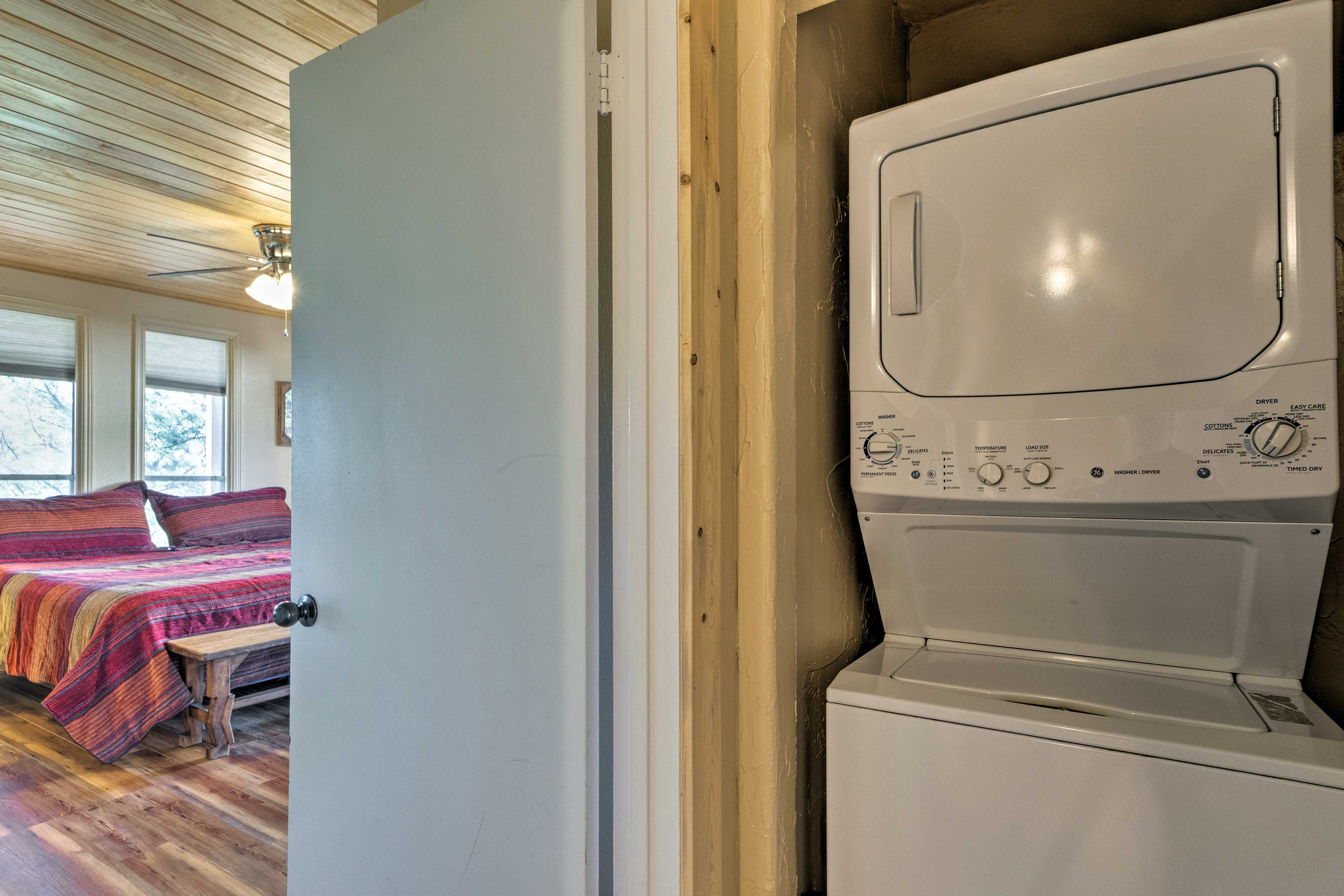 There are 2 sets of in-unit laundry machines in the condo.