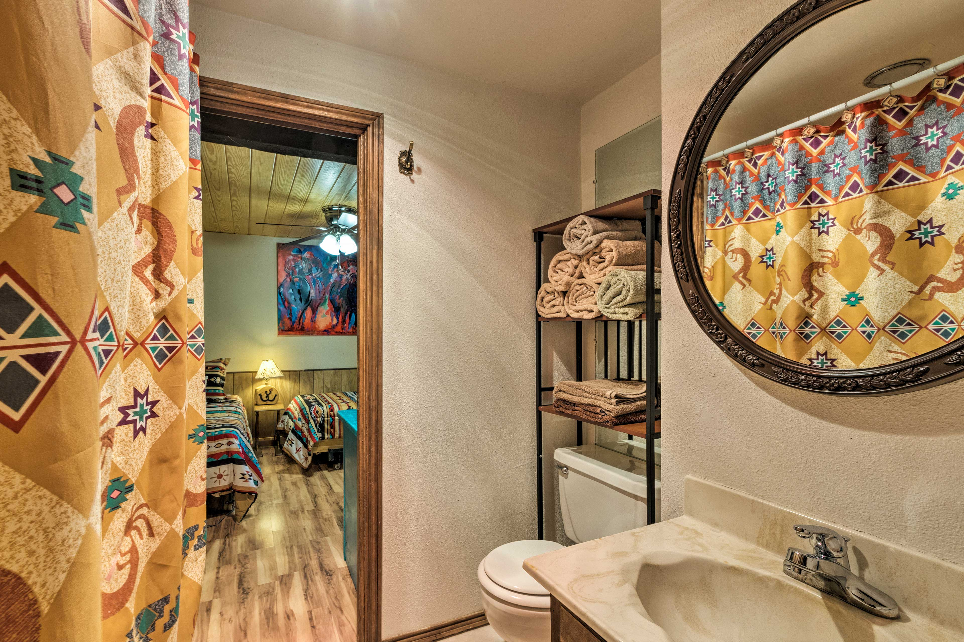 This is a jack-and-jill style bathroom.