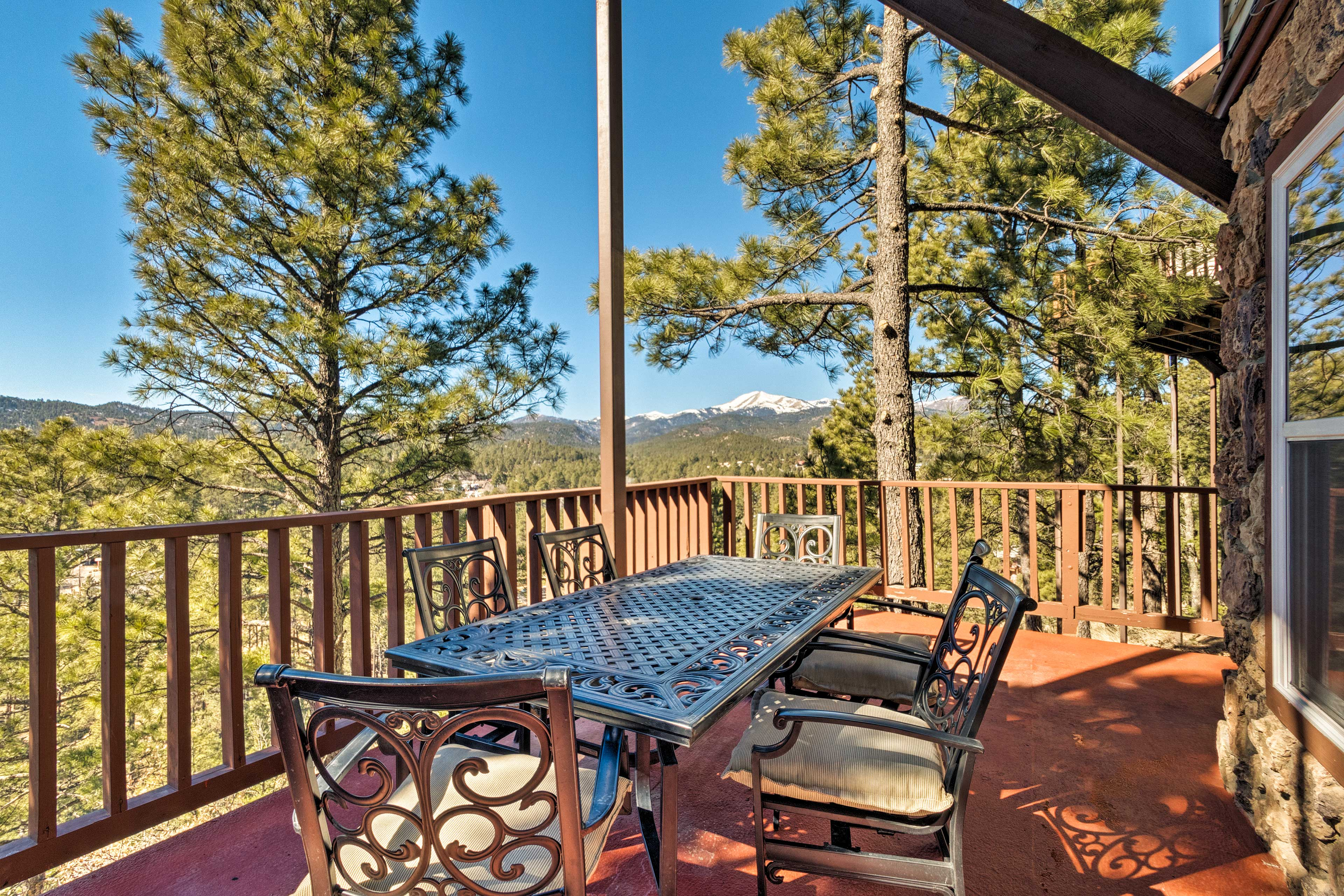 Feast on the lower deck and marvel at the mountain views.