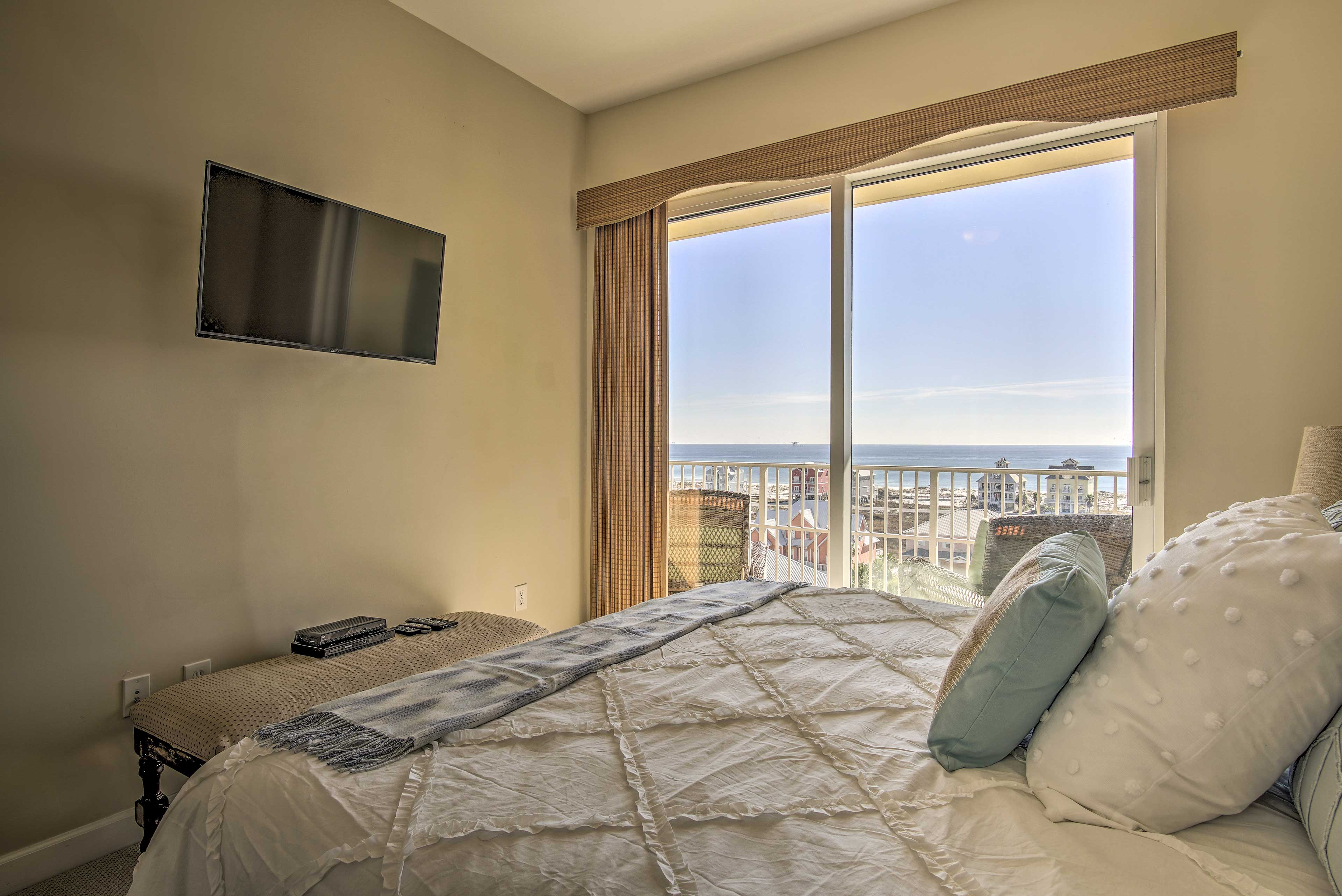 Direct balcony access makes this room unbeatable.