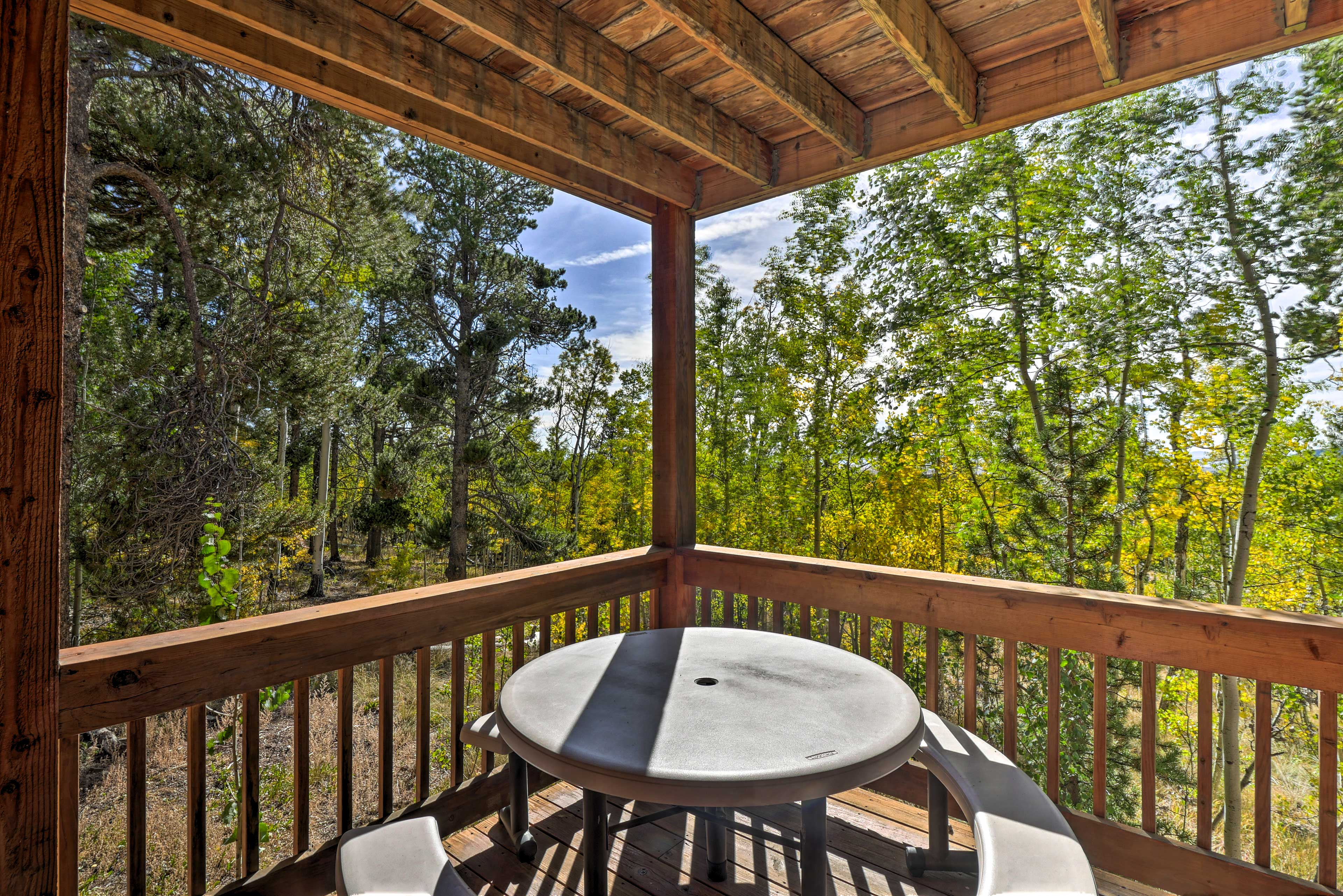 Delight in meals al fresco on the spacious deck.