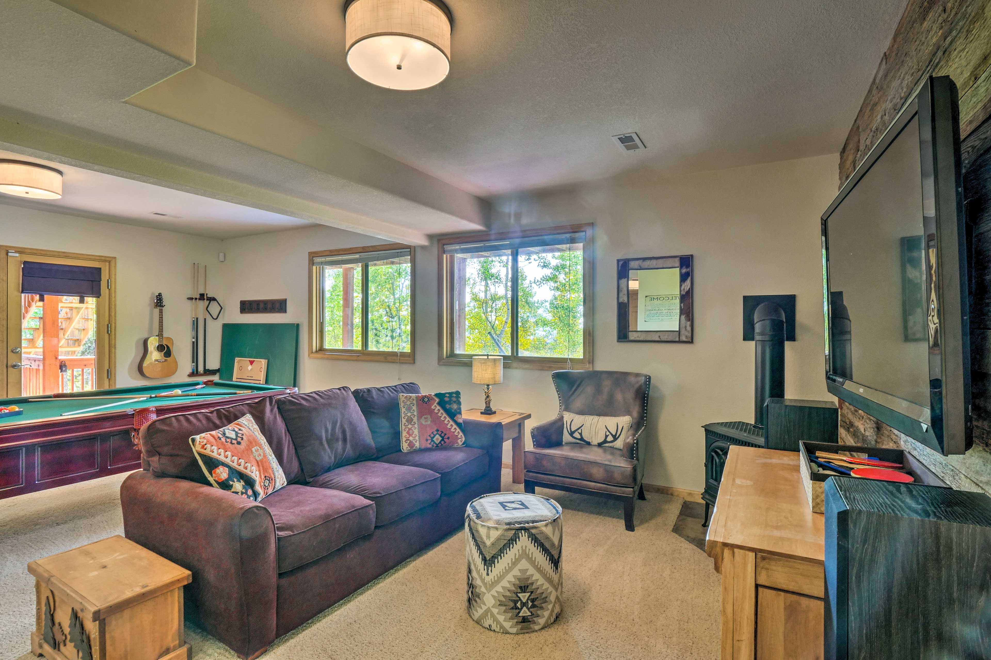 An additional living area is perfect for watching the big game!