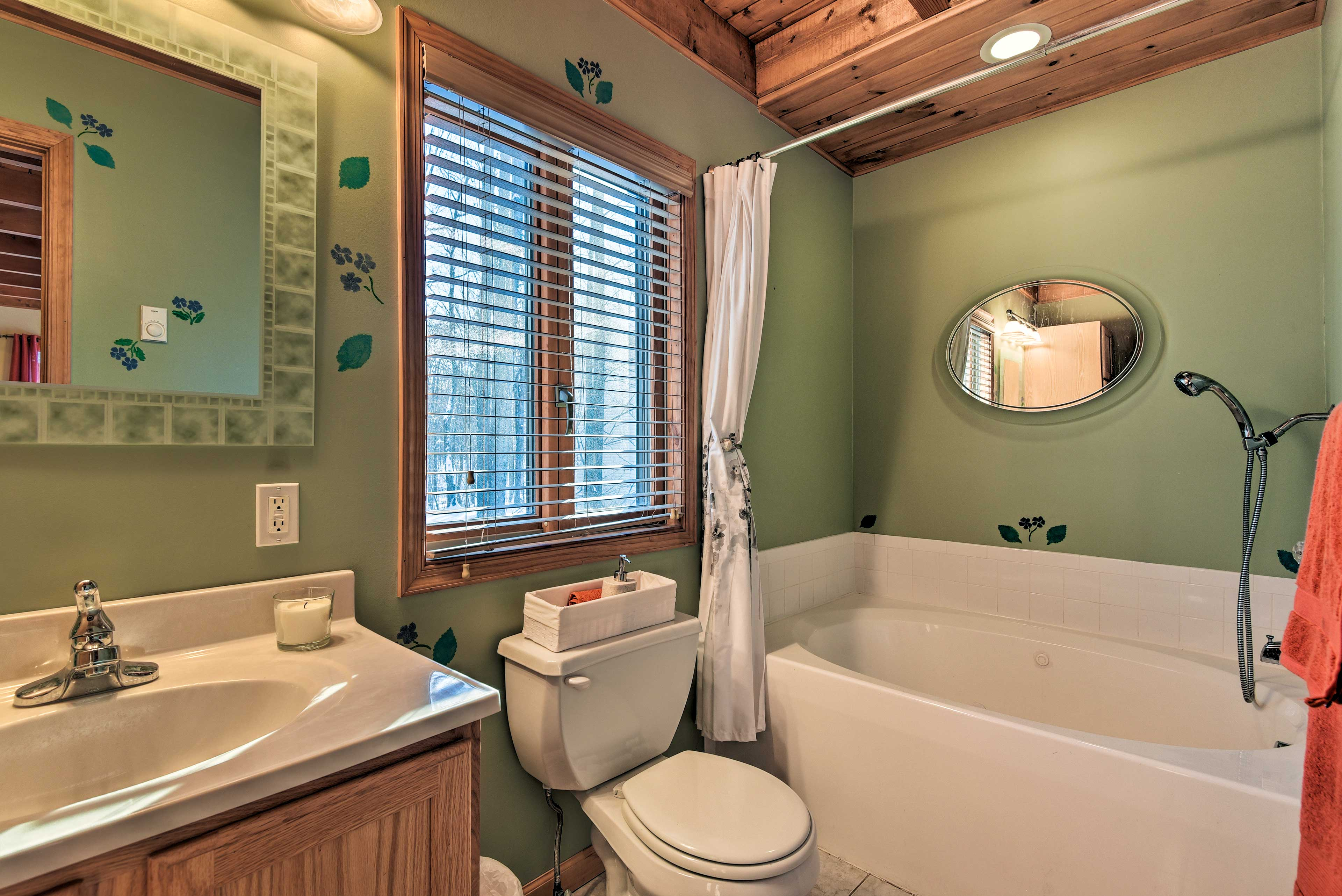 Feel your soreness melt away with a soak in this tub.