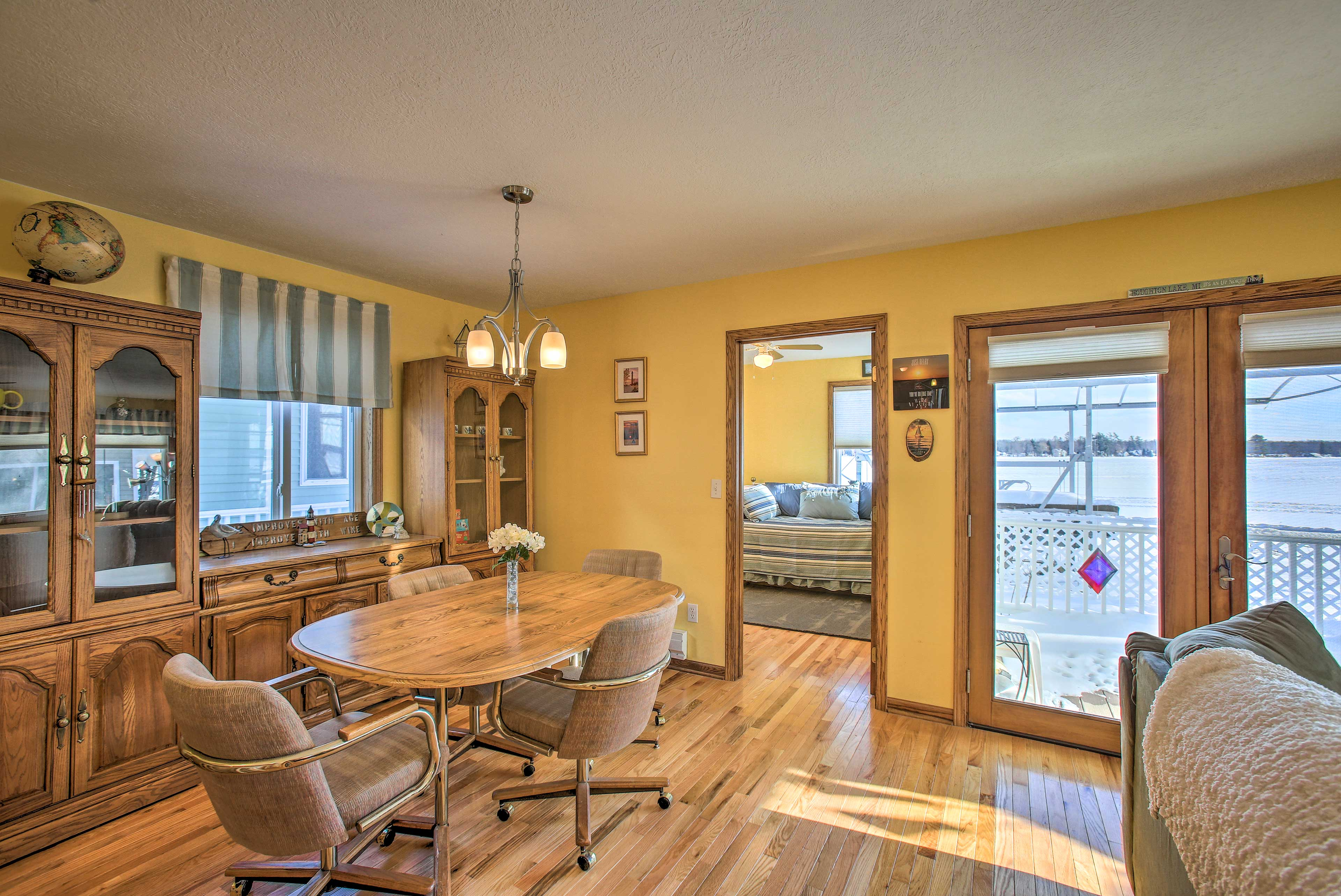 The wood floors throughout provide an open feel.