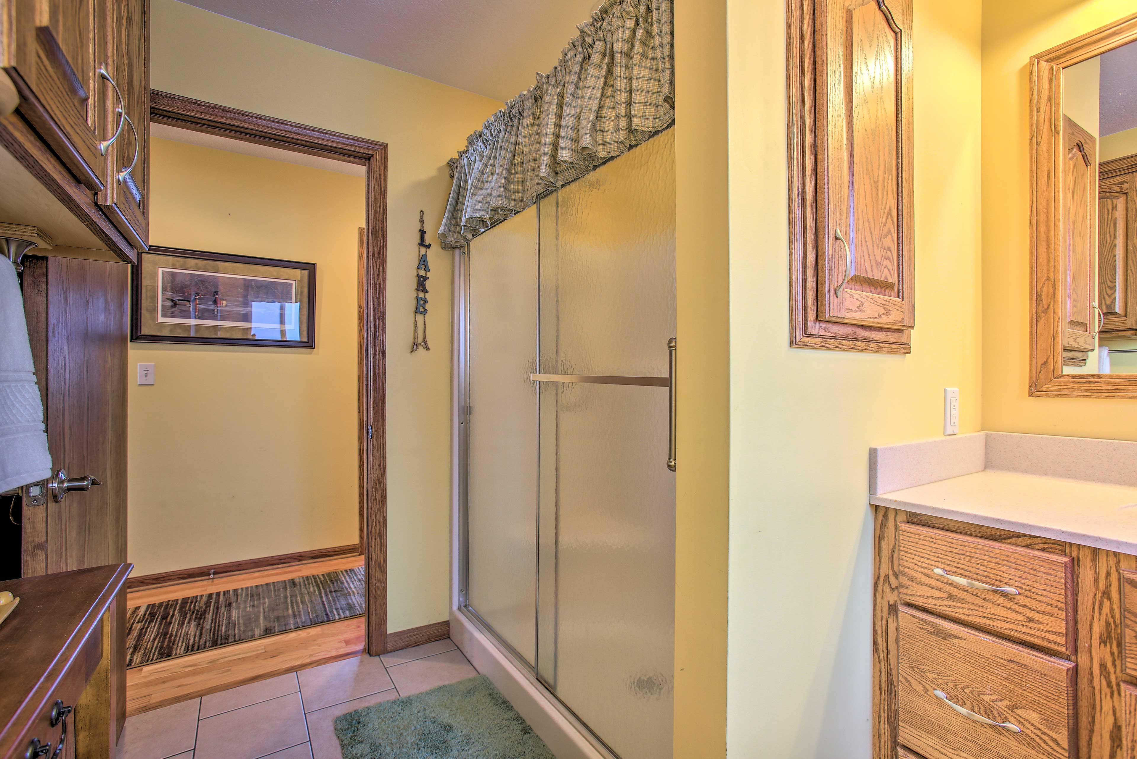 This bathroom is easily accessible being on the first floor.
