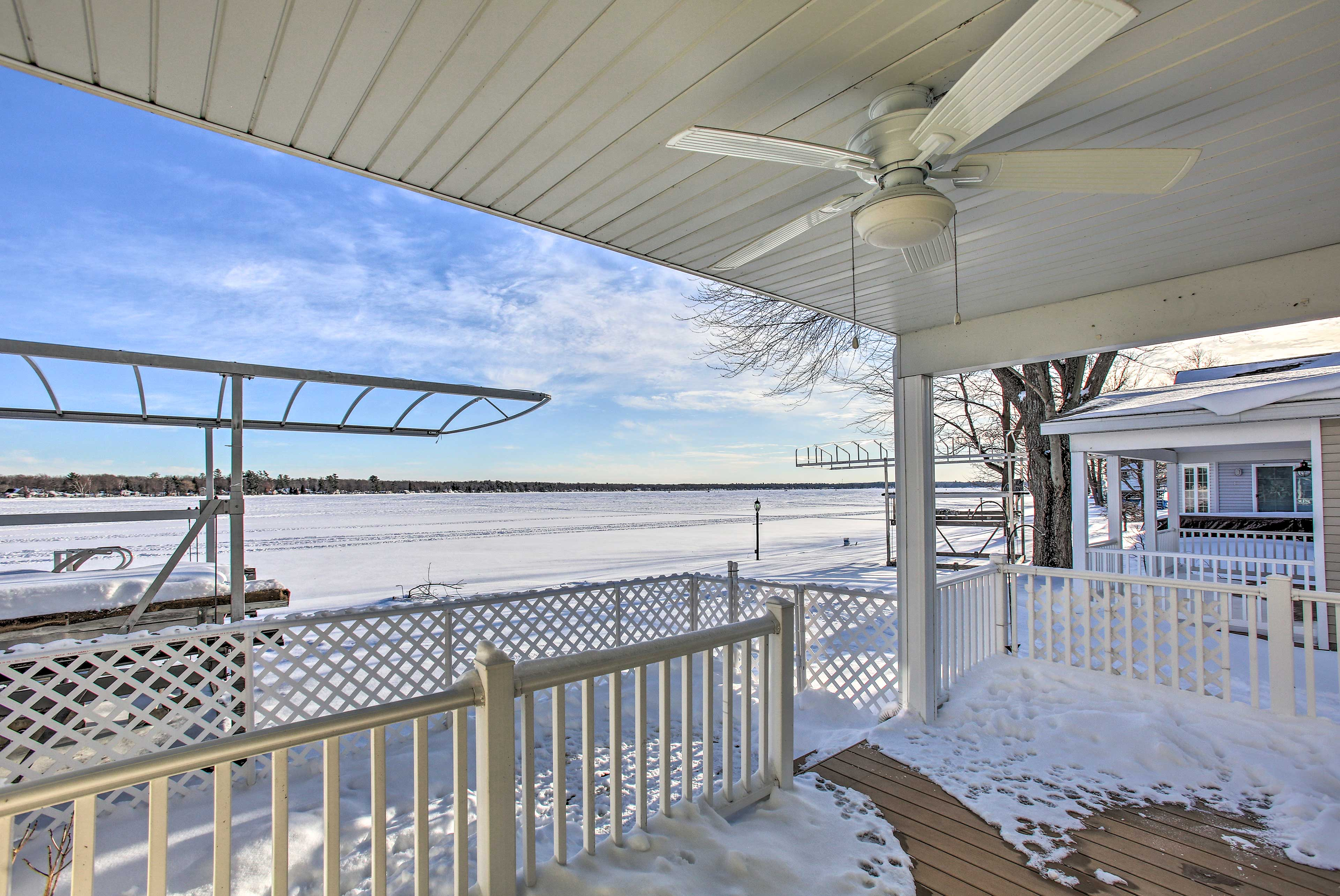 Enjoy the lake views from the back deck.