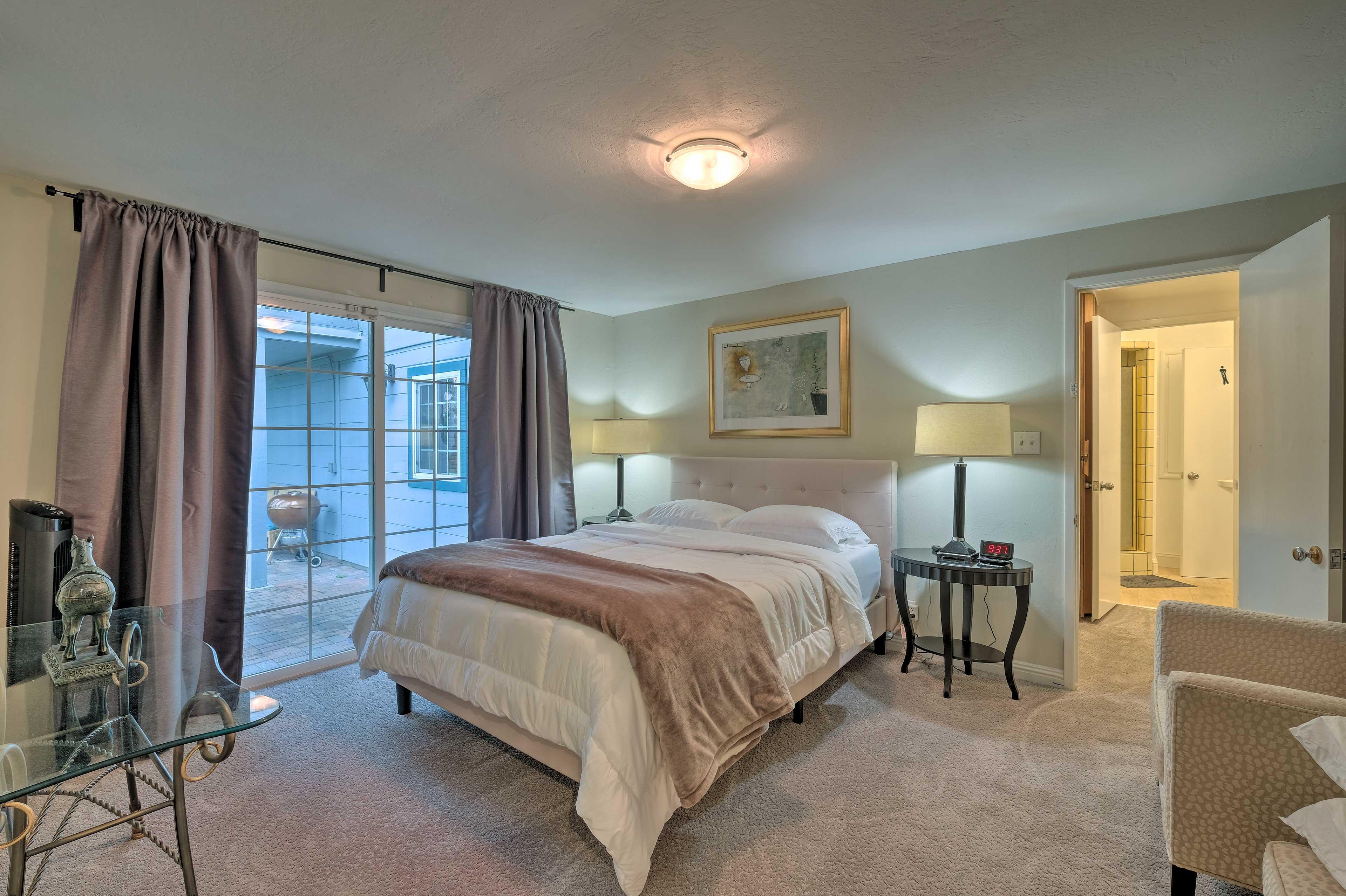 Bedroom 1 | Queen Bed | Patio Access